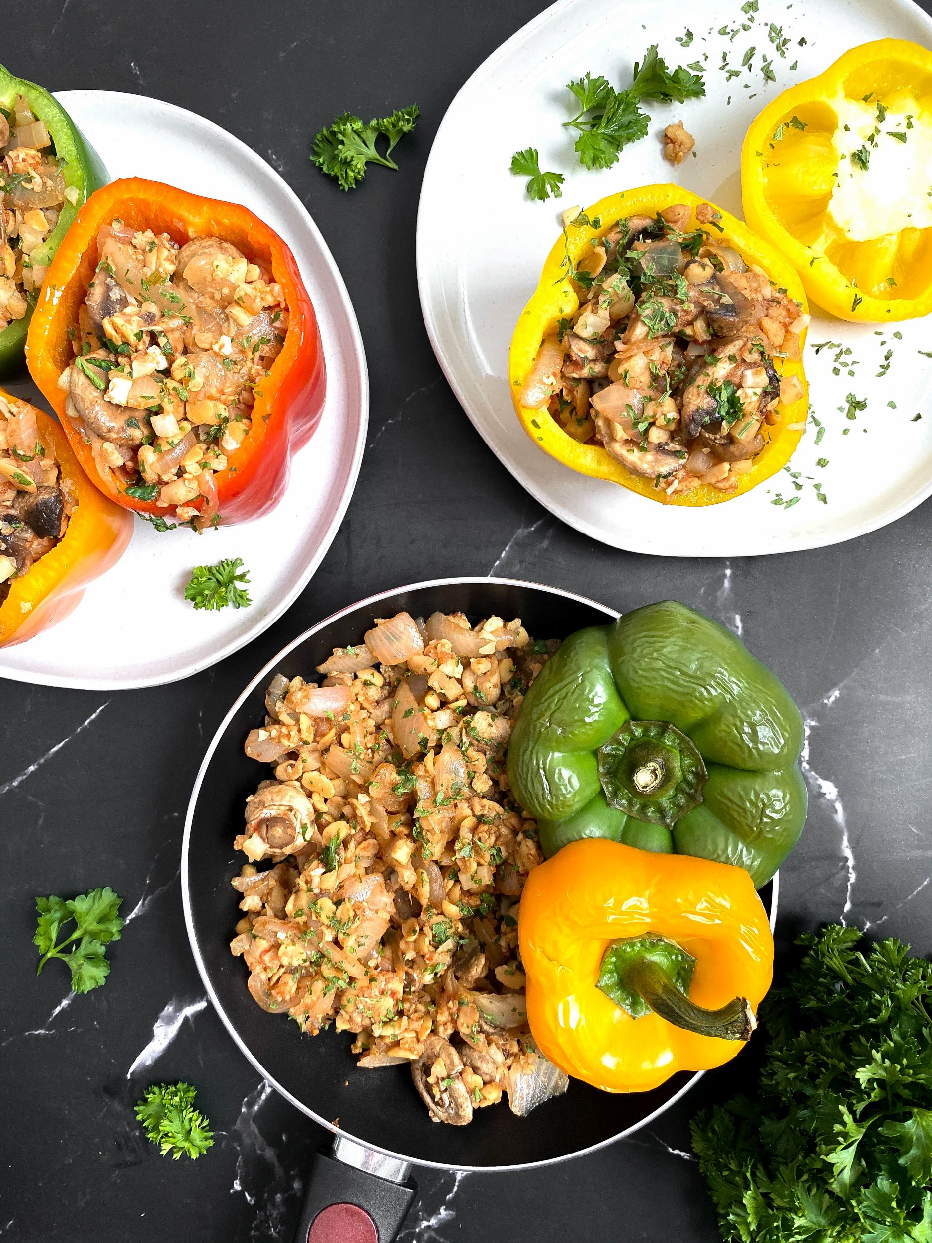 Plant-Based Stuffed Peppers