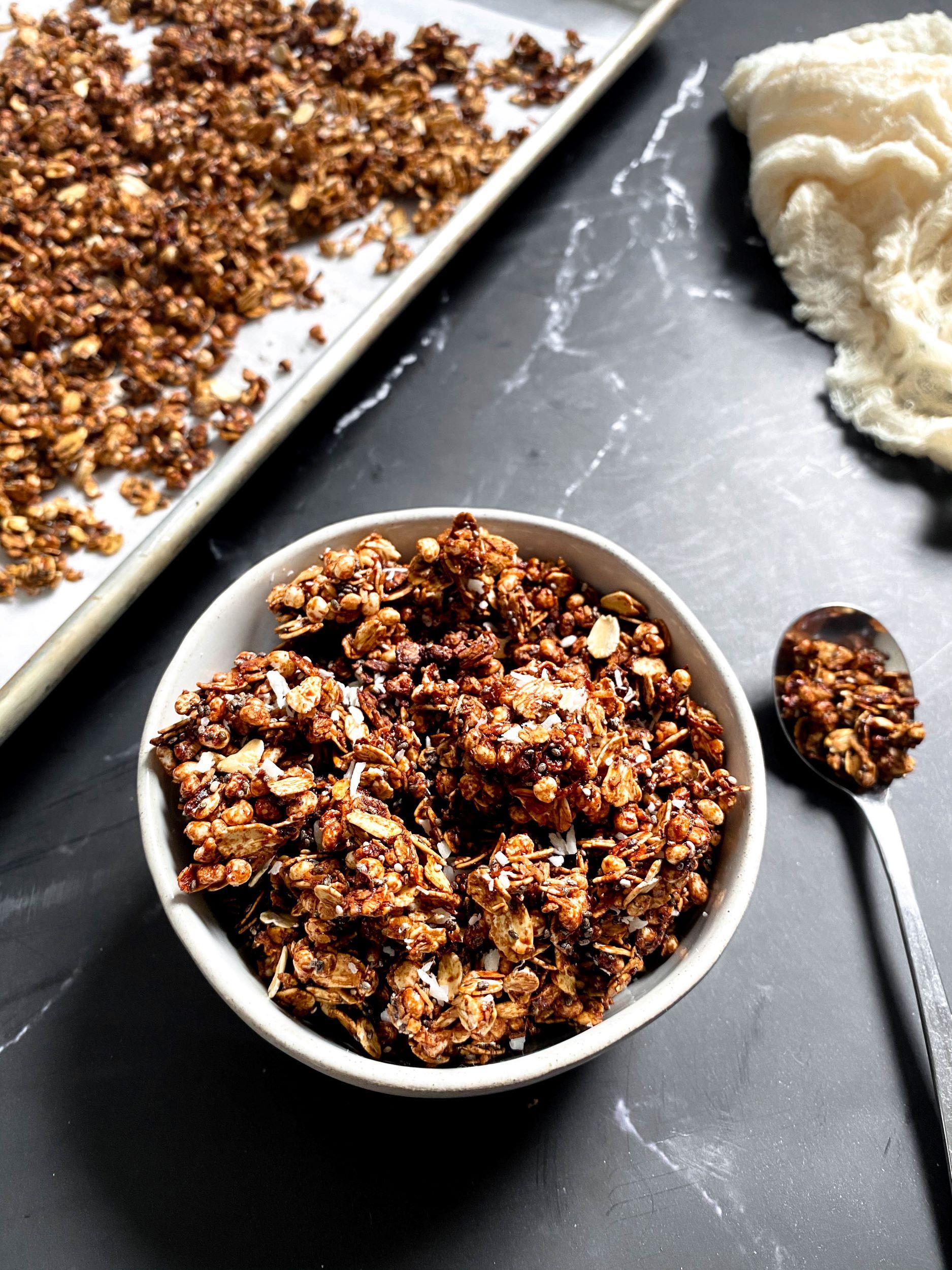 Sugar-Free Coconut Chia Granola