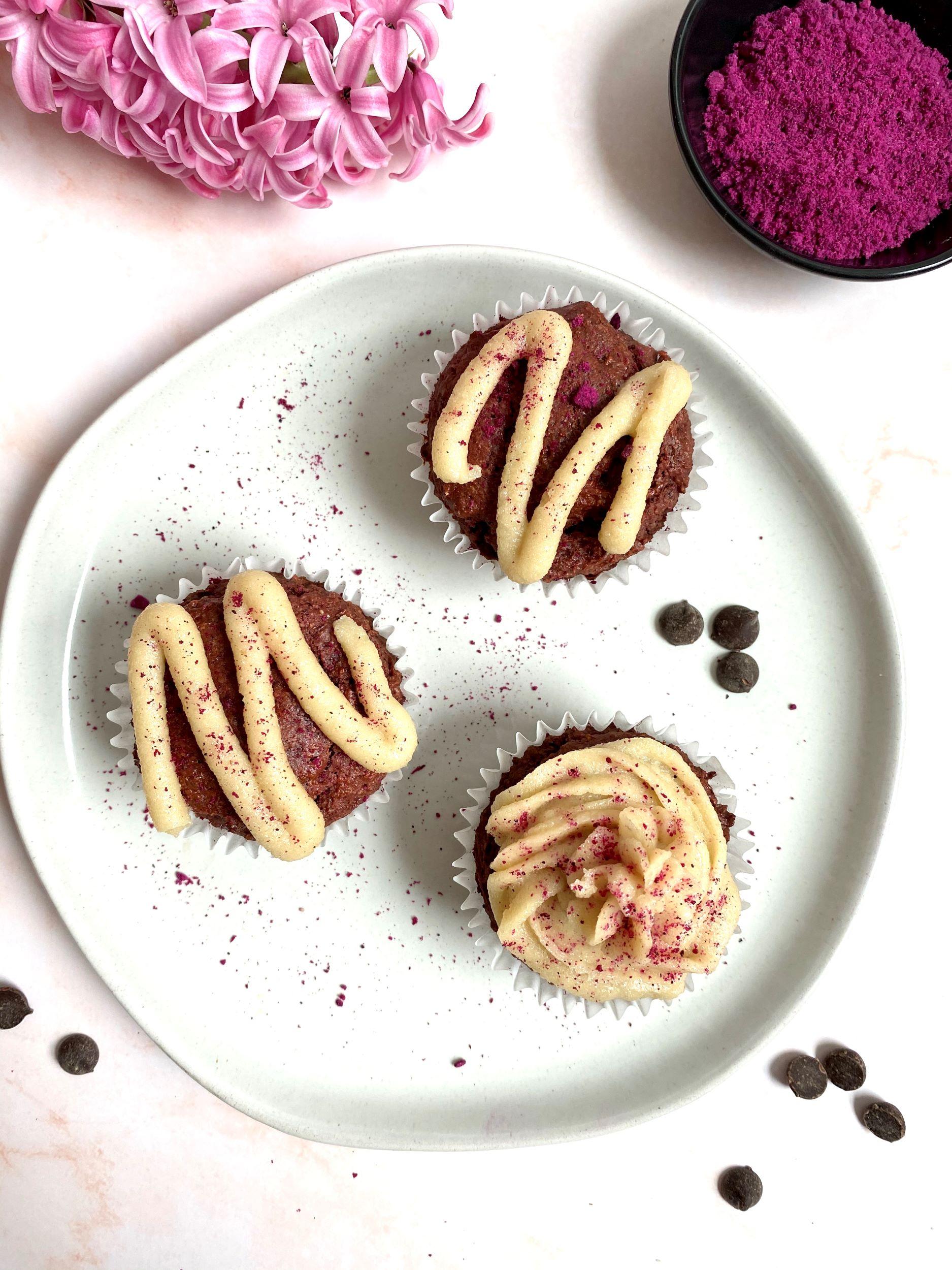 Plant-Based Red Velvet Cupcakes