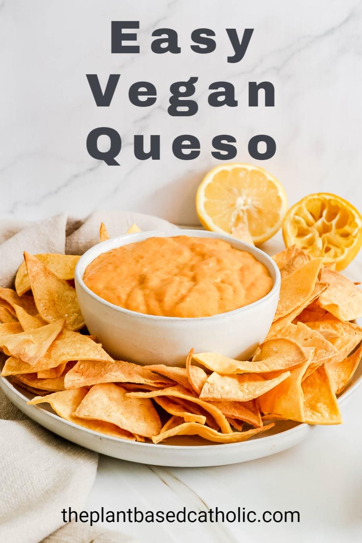 Easy Vegan Queso Pinterest Graphic