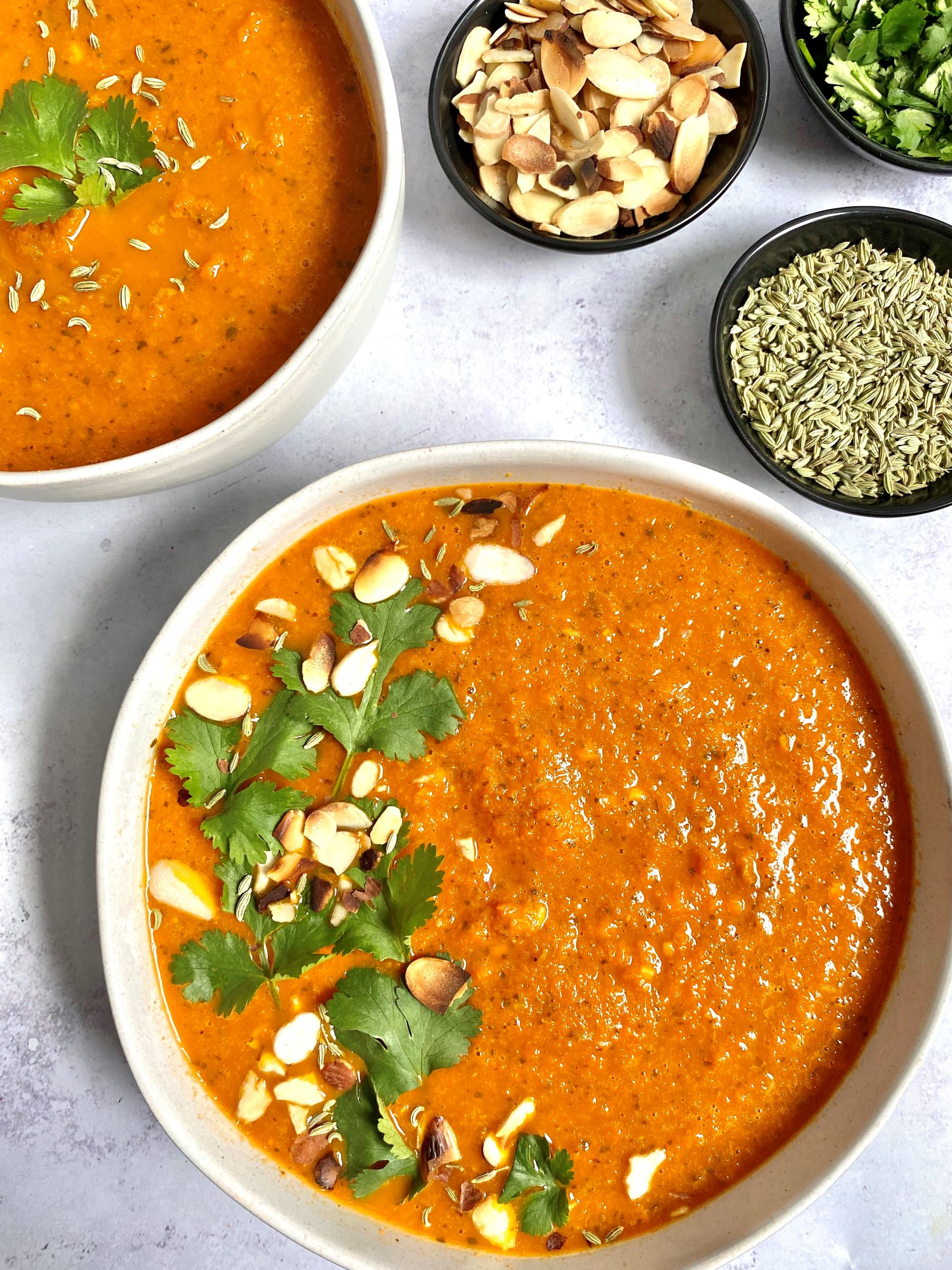 Caramelized Carrot Soup with Fennel