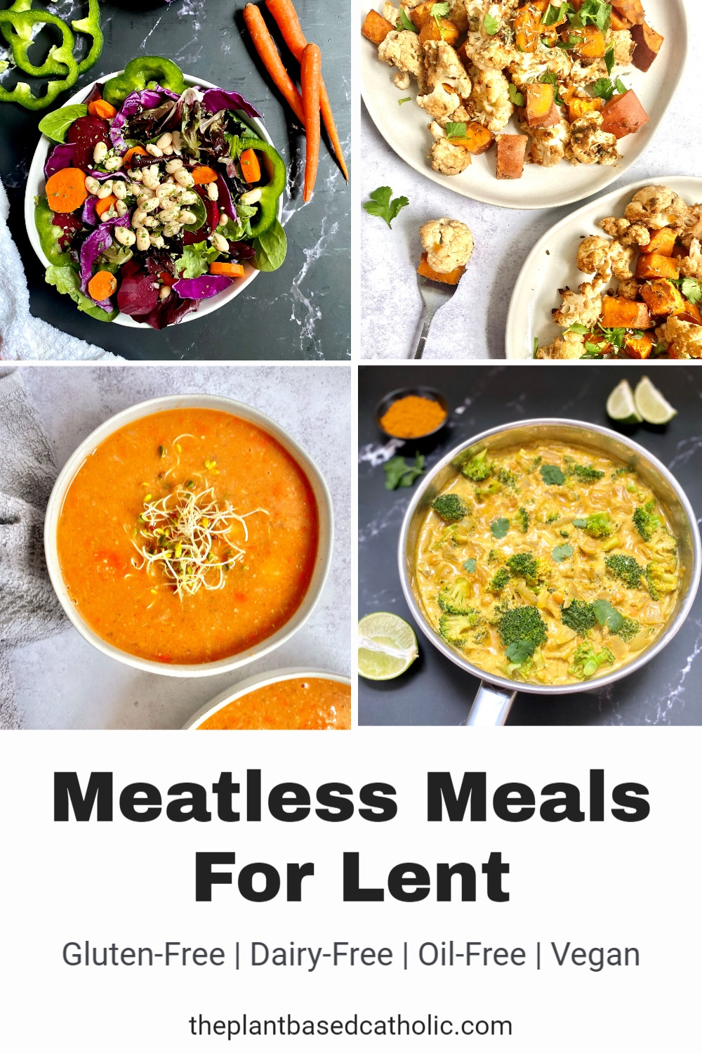 Meatless Meals for Lent Pinterest Graphic