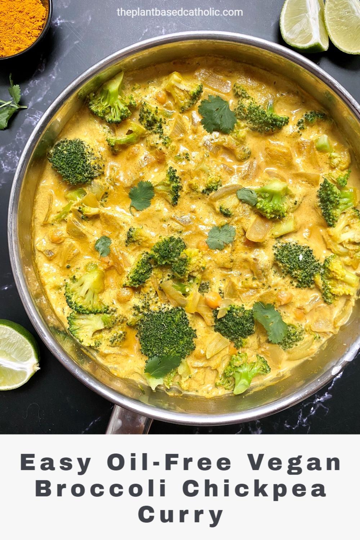 Vegan Broccoli Chickpea Curry Pinterest Graphic
