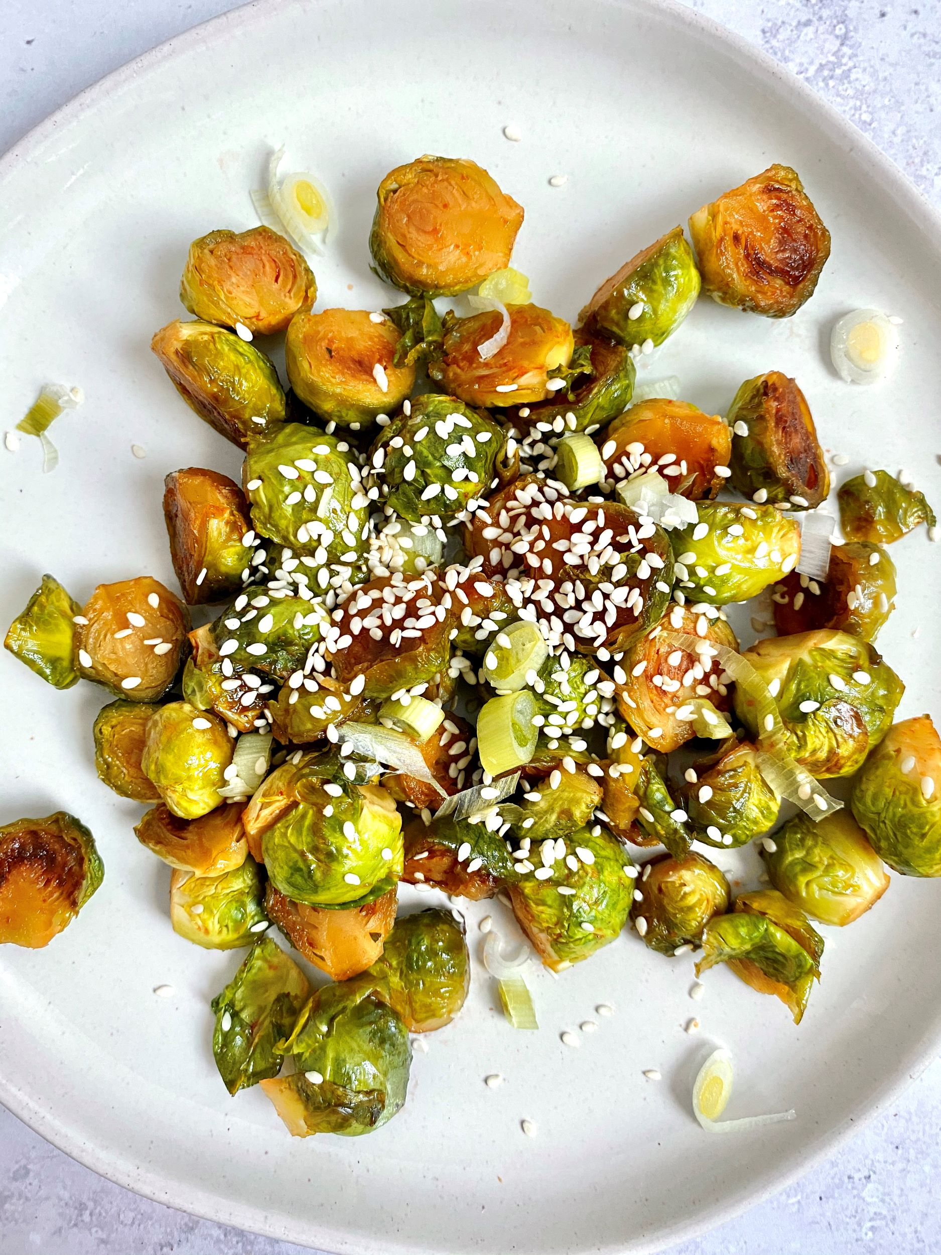 Oil-Free Skillet-Fried Brussels Sprouts