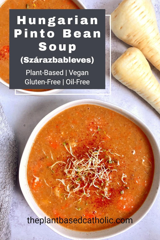 Hungarian Pinto Bean Soup Pinterest Graphic