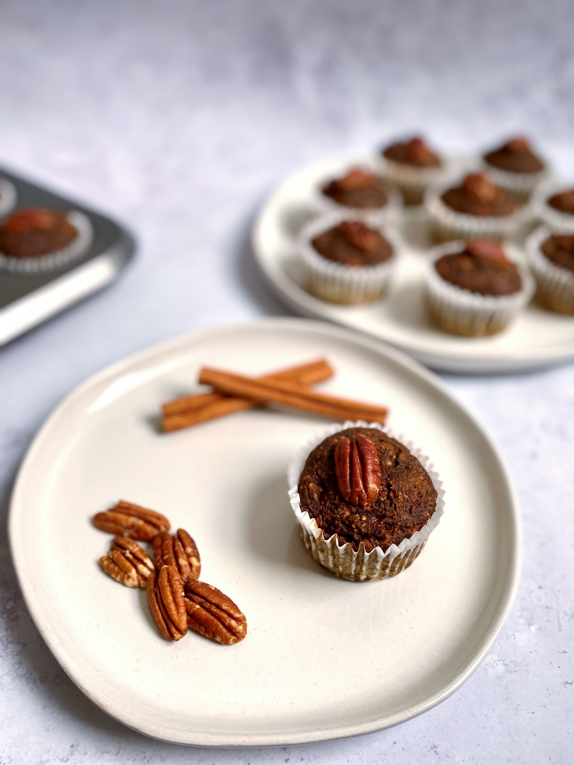 Coffee Pecan Breakfast Muffins