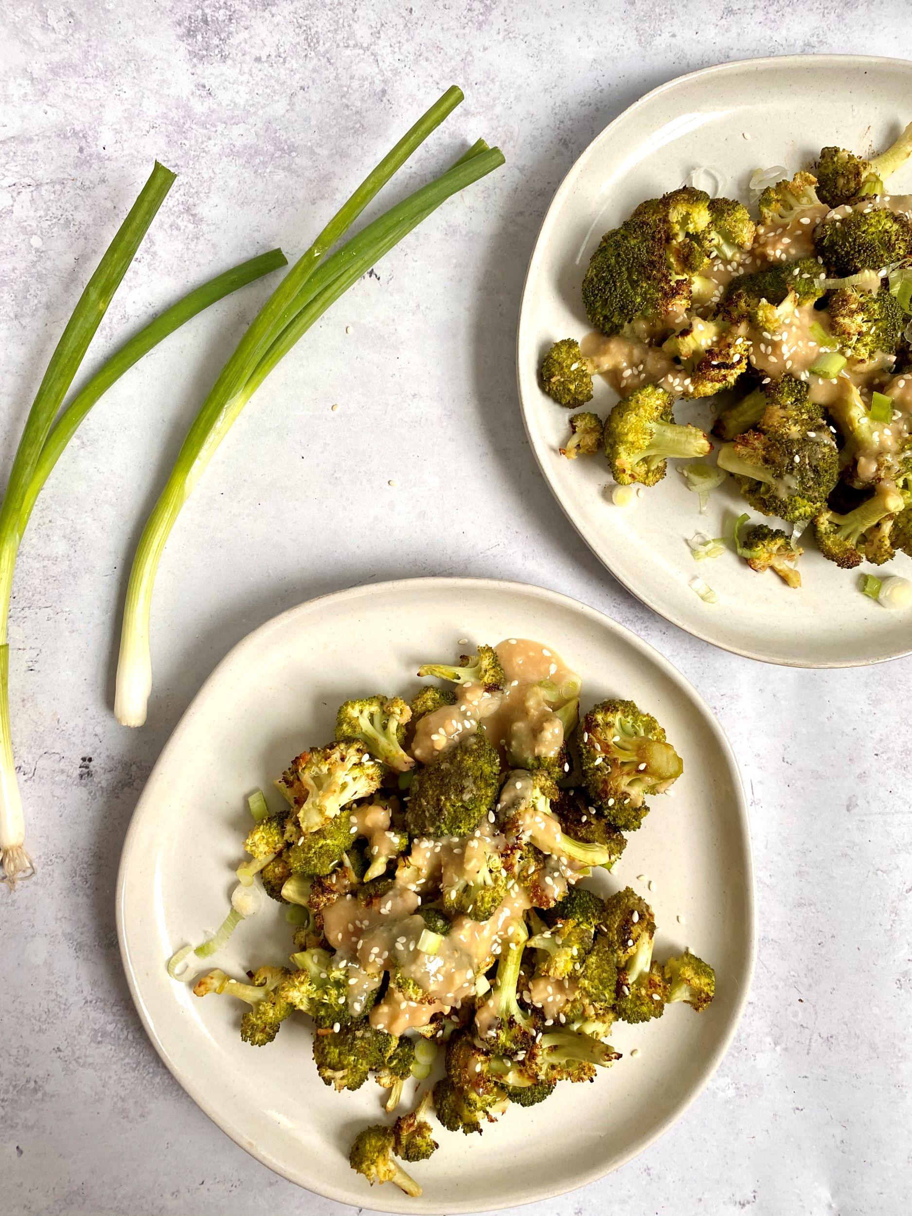 Oil-Free Miso Charred Broccoli