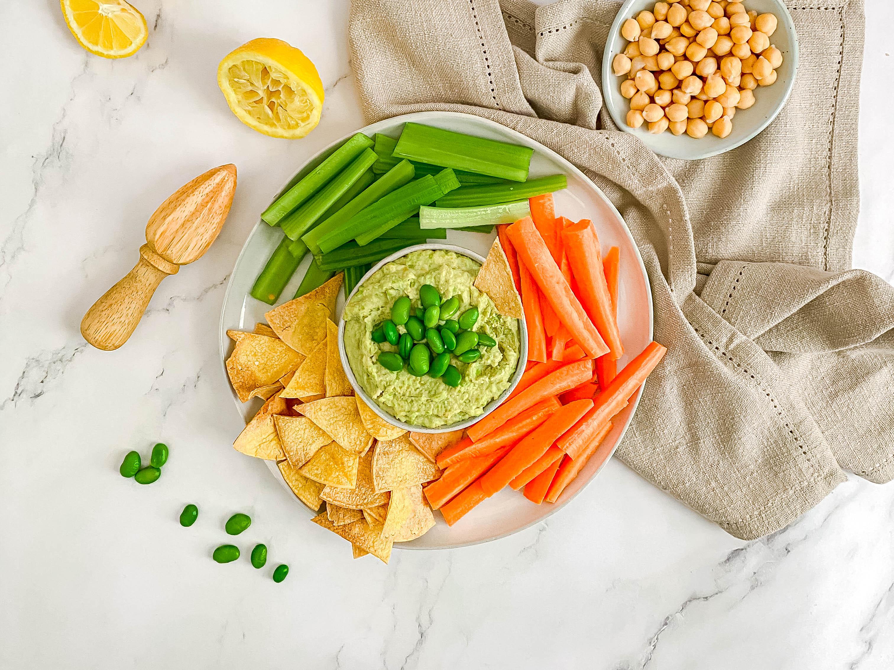 Oil-Free Edamame Hummus