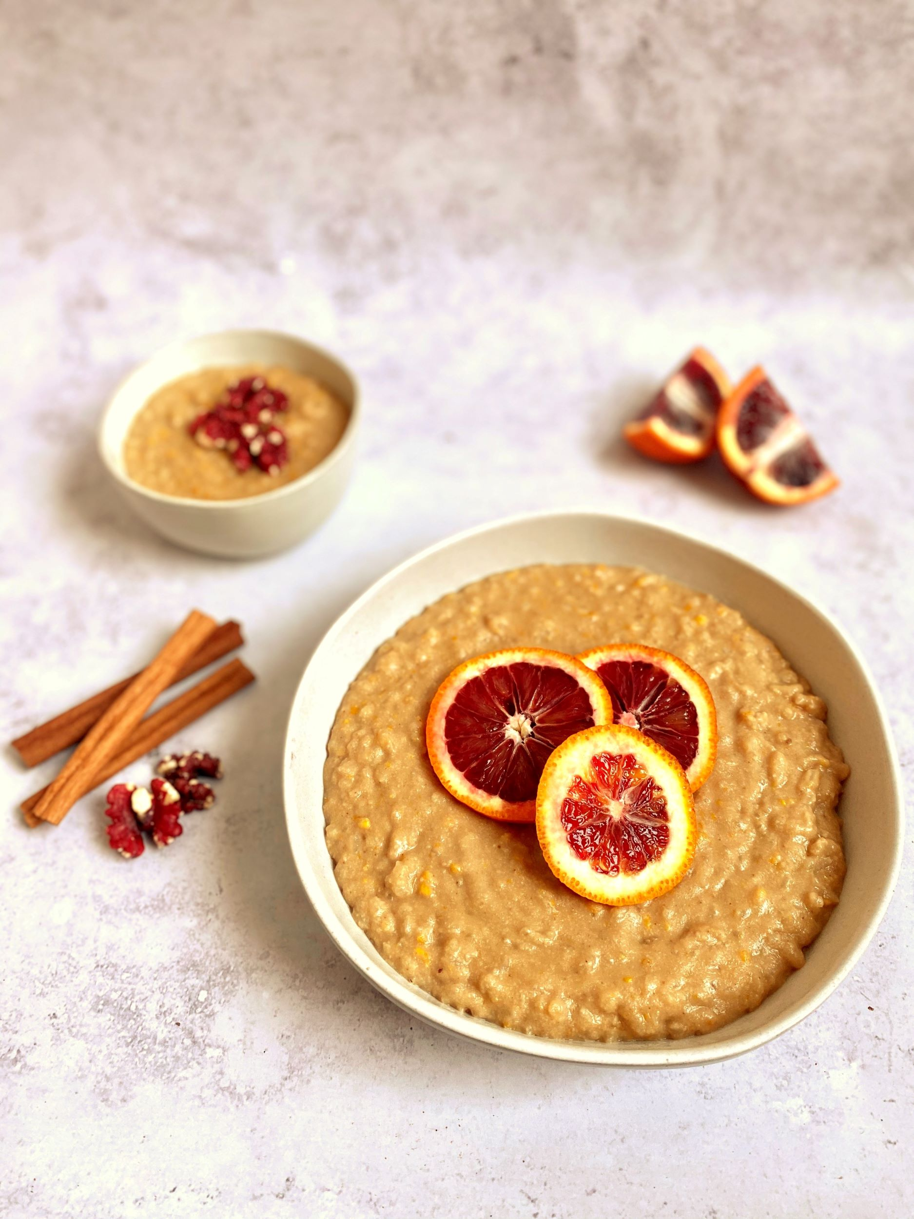 Vegan Bourbon Orange Rice Pudding