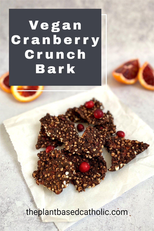 Vegan Cranberry Crunch Bark