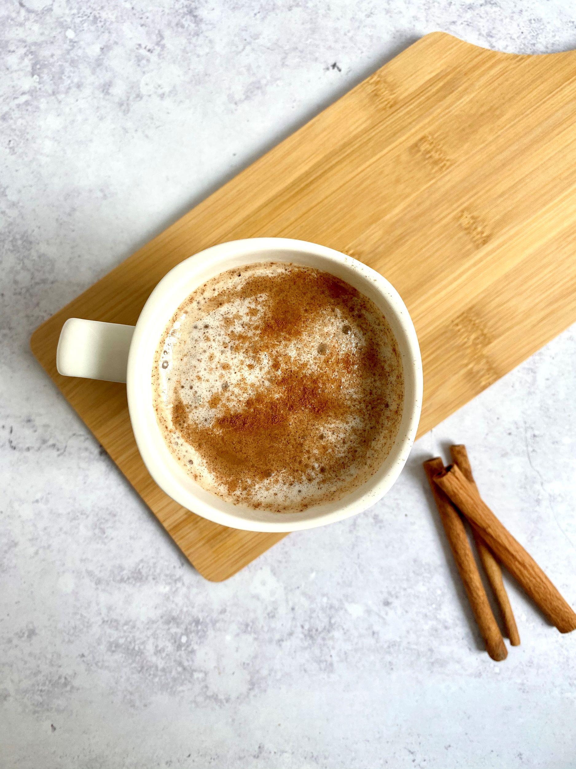 Sugar-Free Vegan Snickerdoodle Latte