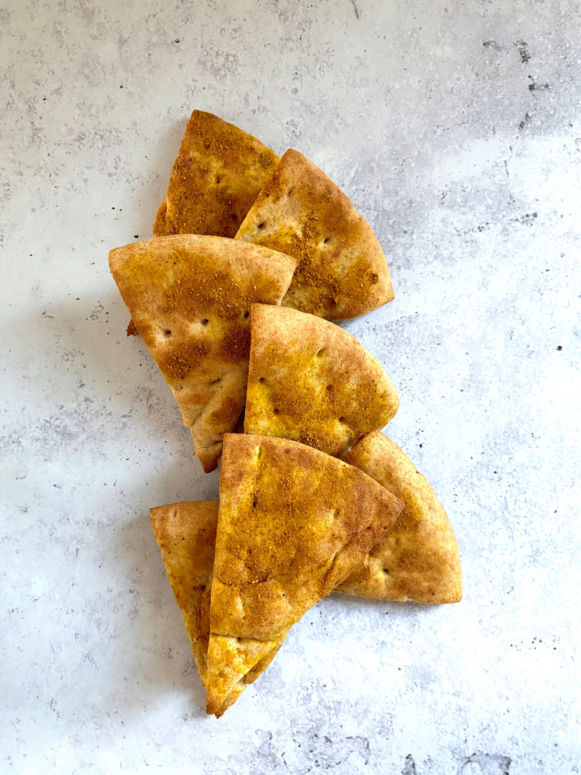 Curried Pita Chips