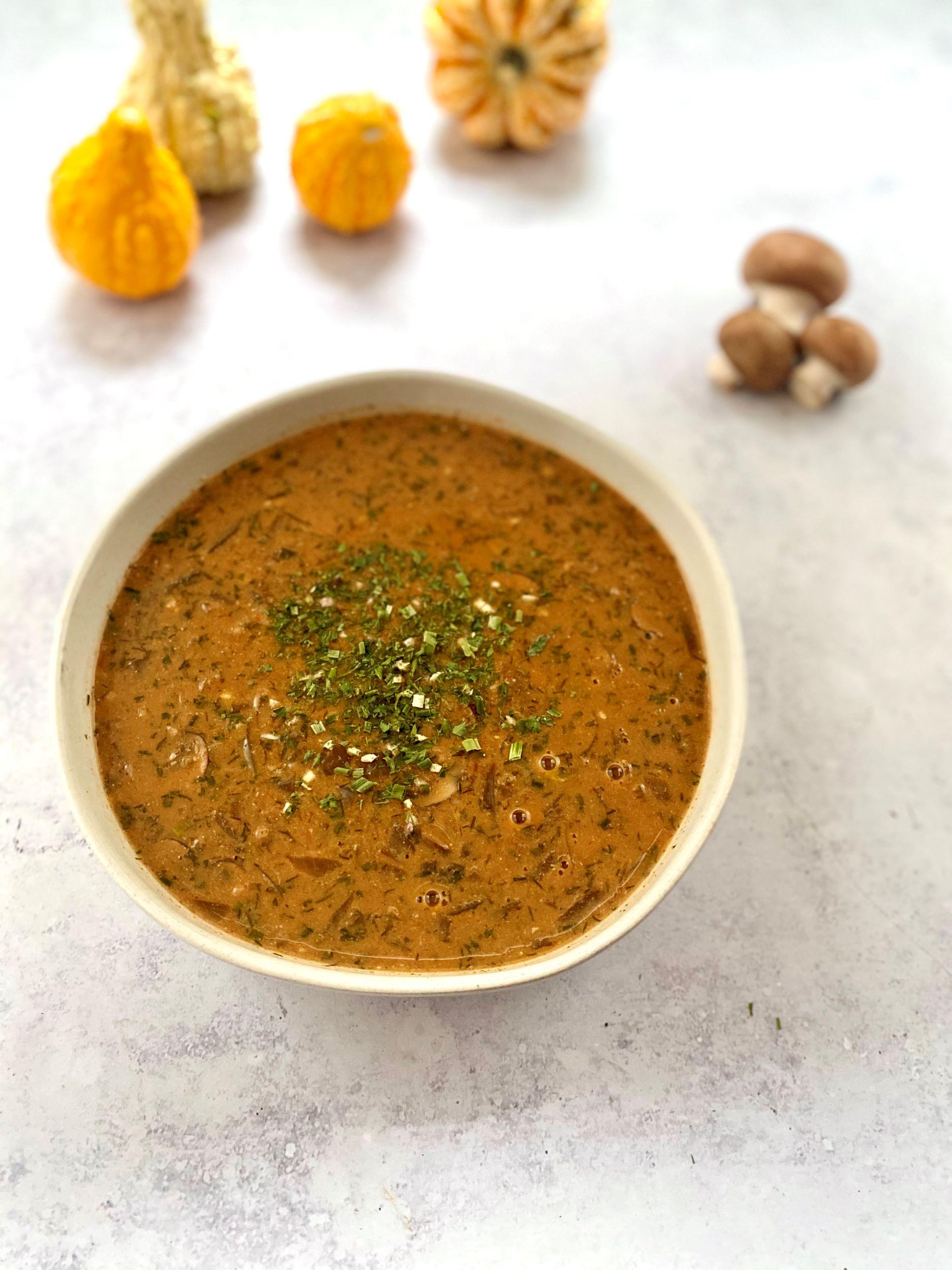 Plant-Based Hungarian Mushroom Soup