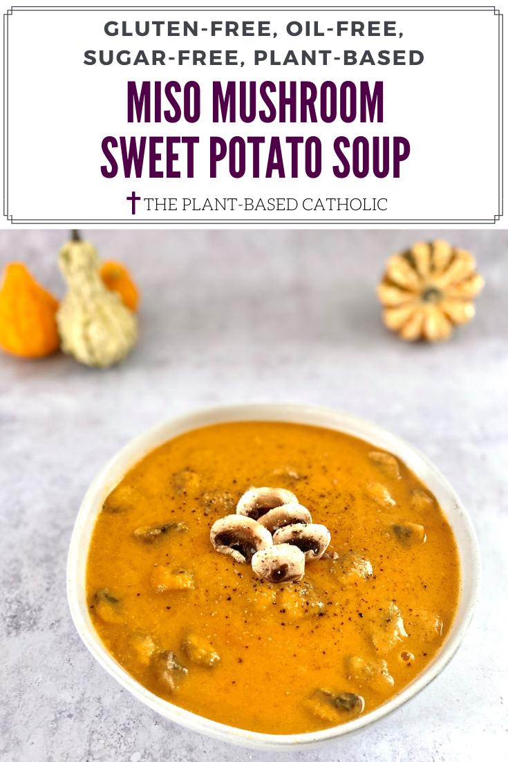Sweet Potato Miso Mushroom Soup