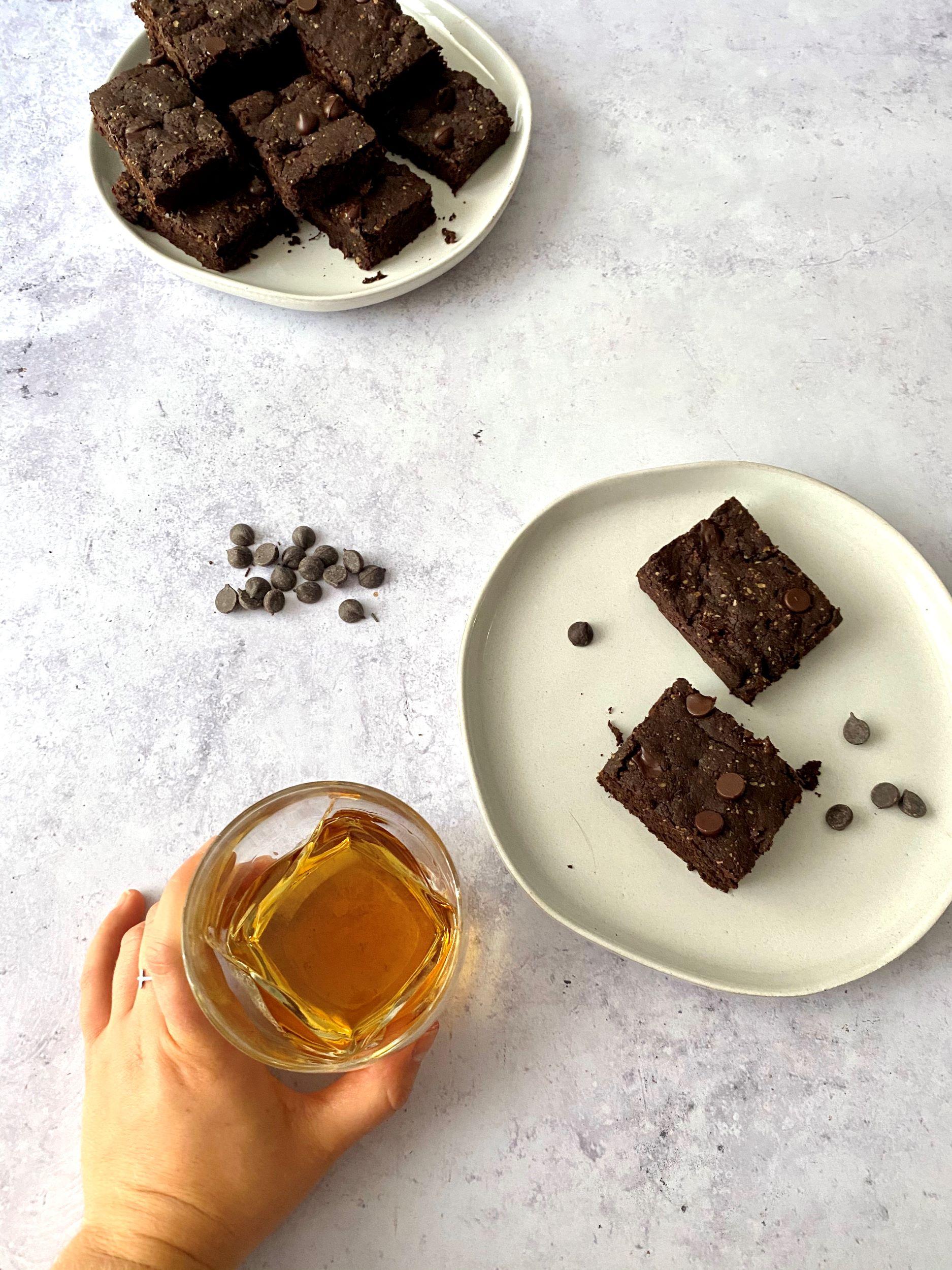 Sugar-Free Vegan Bourbon Brownies