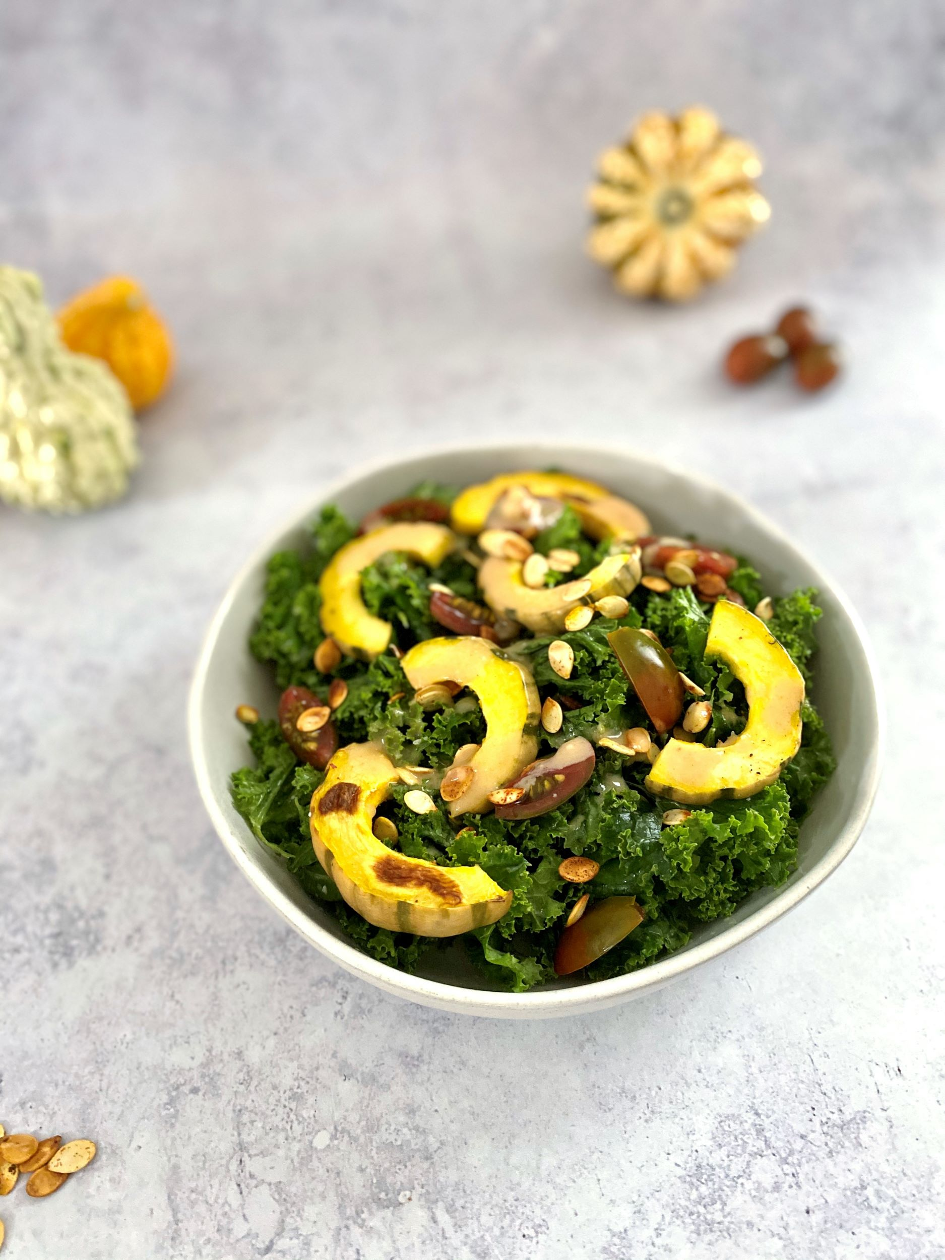 Delicata Squash Kale Salad