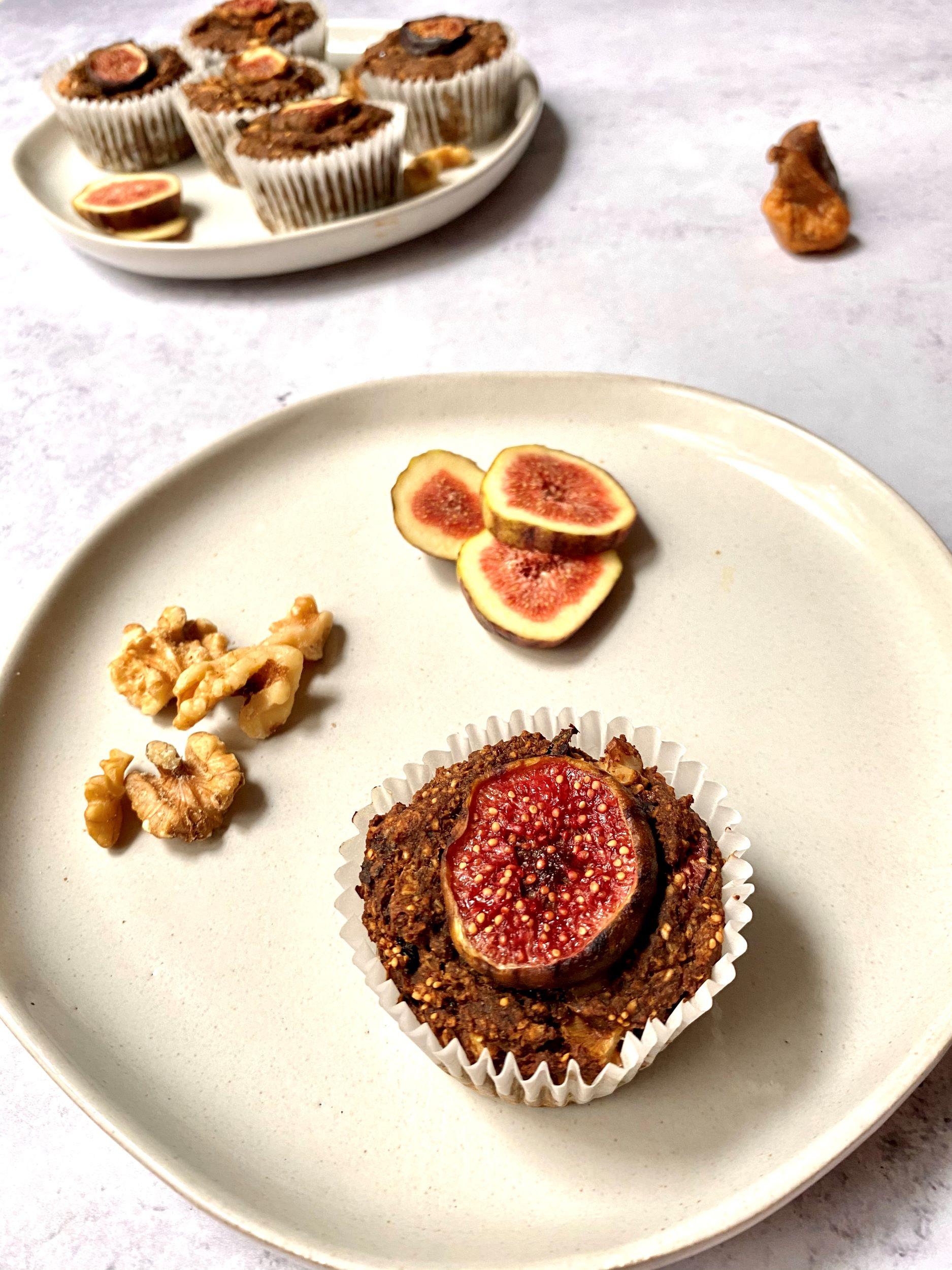 Plant-Based Fresh Fig Muffins