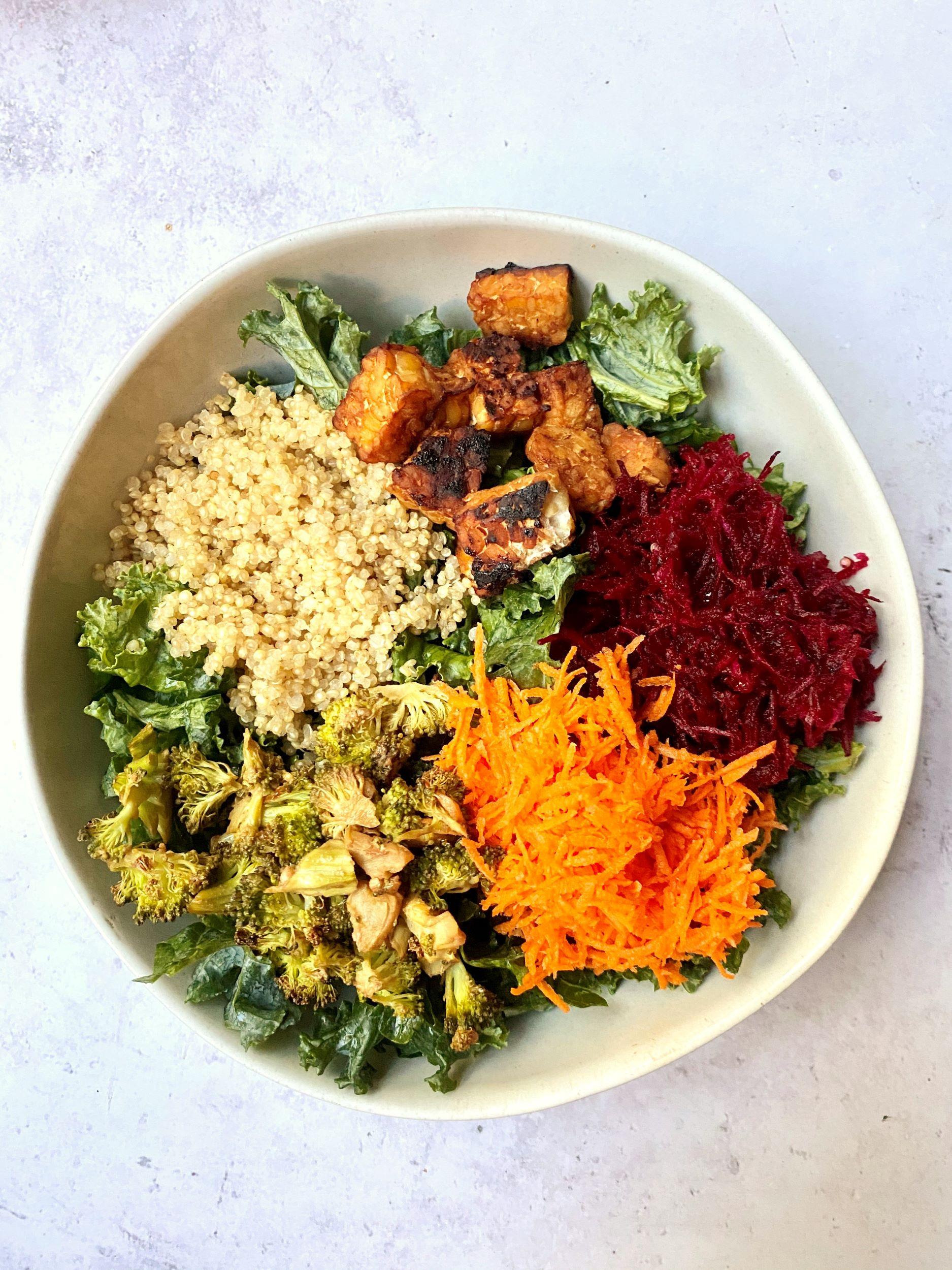 Spicy Kale Grain Bowl