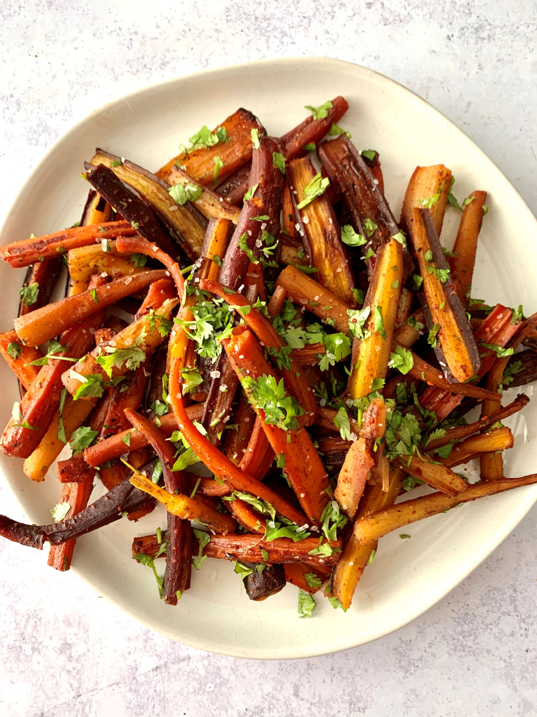 Spicy Roasted Carrots with Cilantro