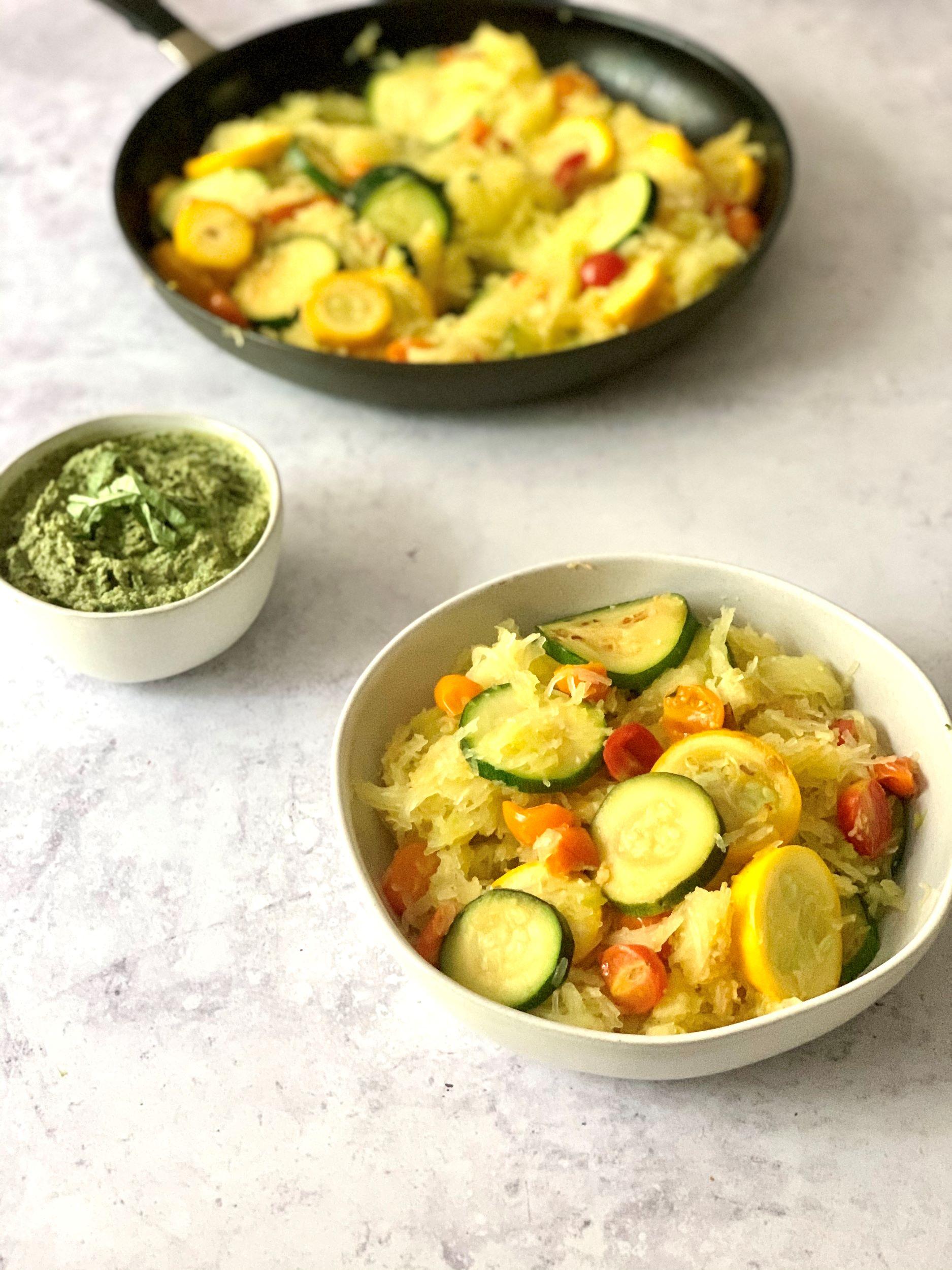 Zucchini Tomato Spaghetti Squash