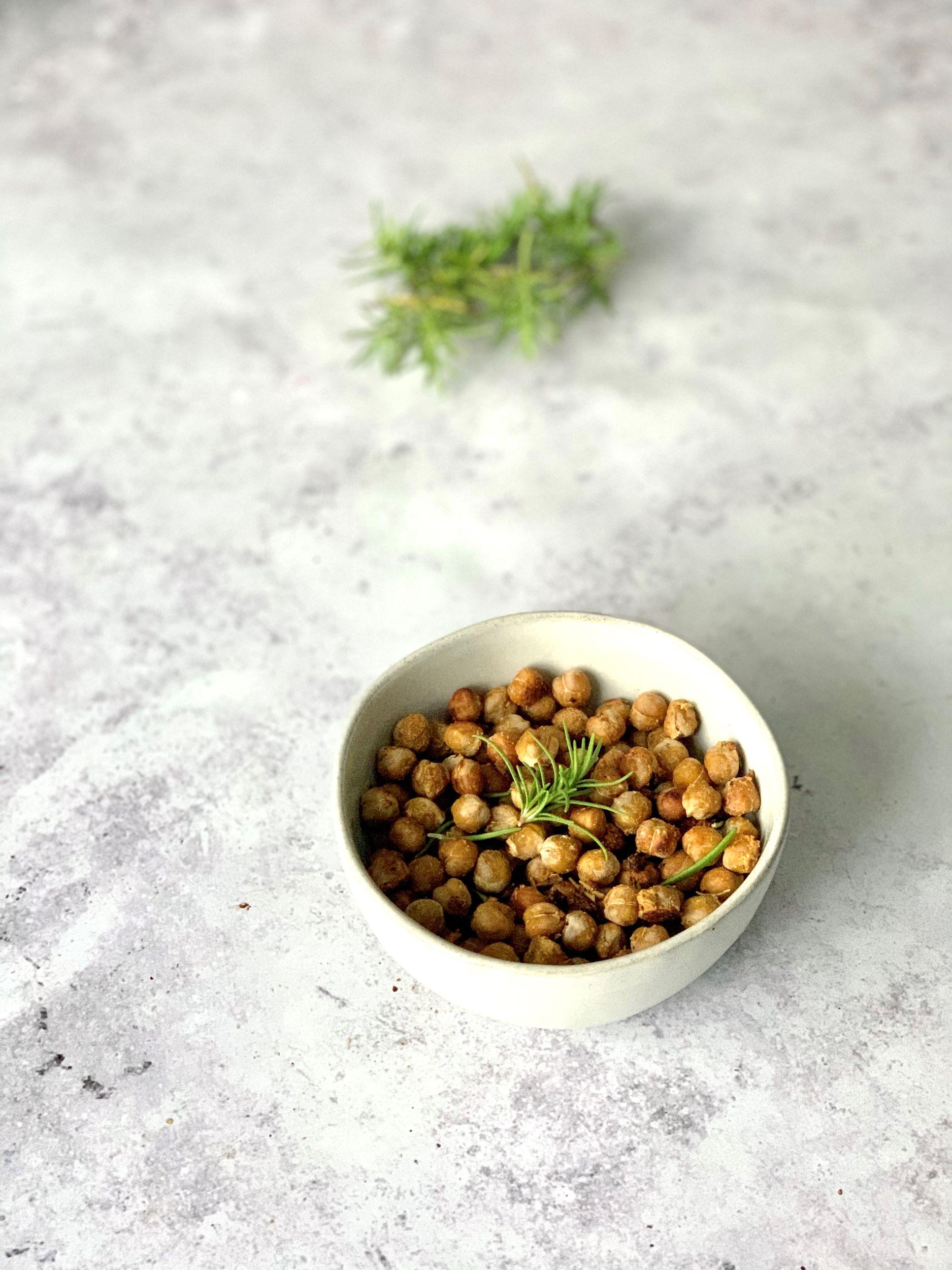 Rosemary Sea-Salt Roasted Chickpeas