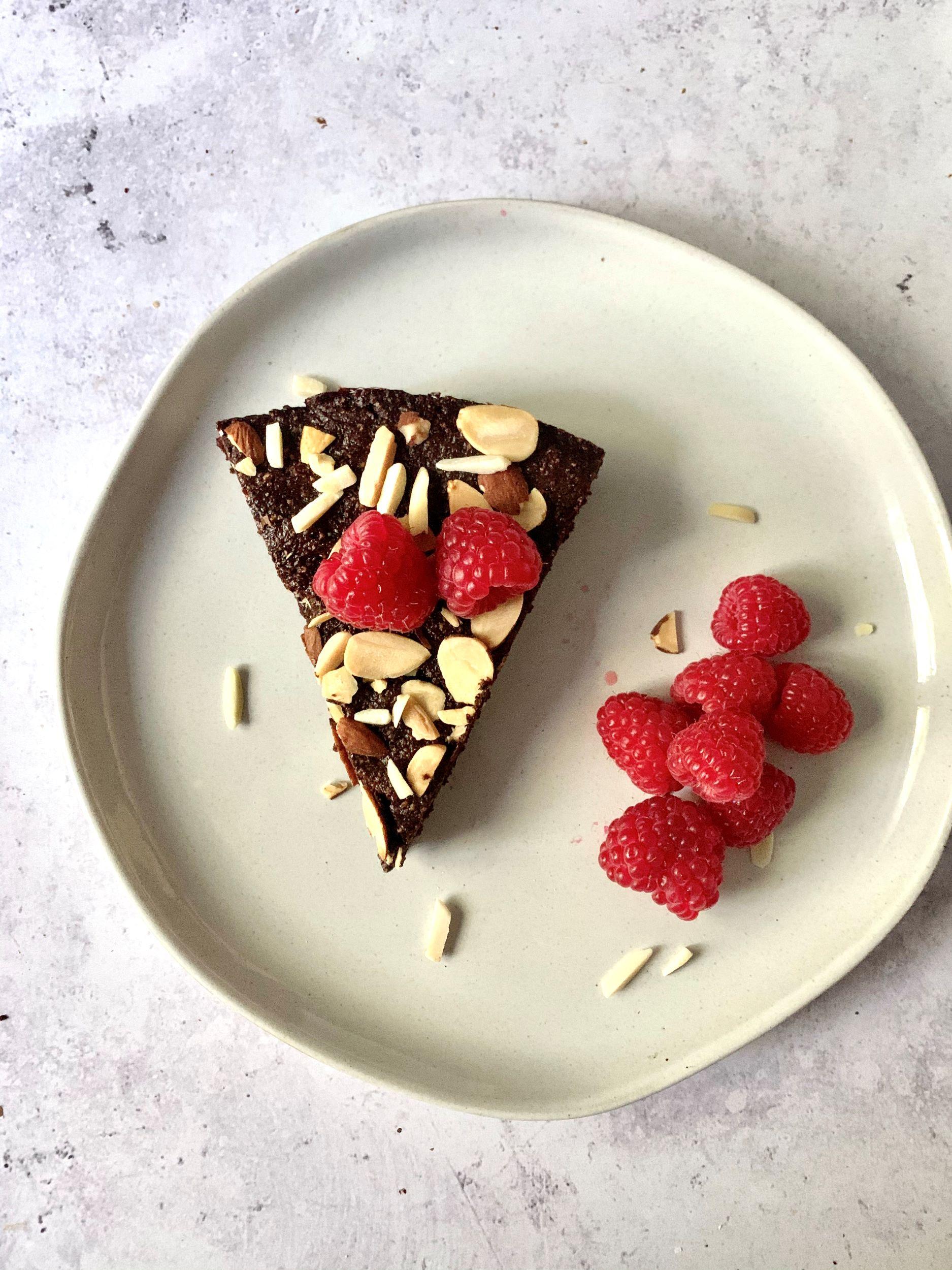Plant-Based Chocolate Almond Torte