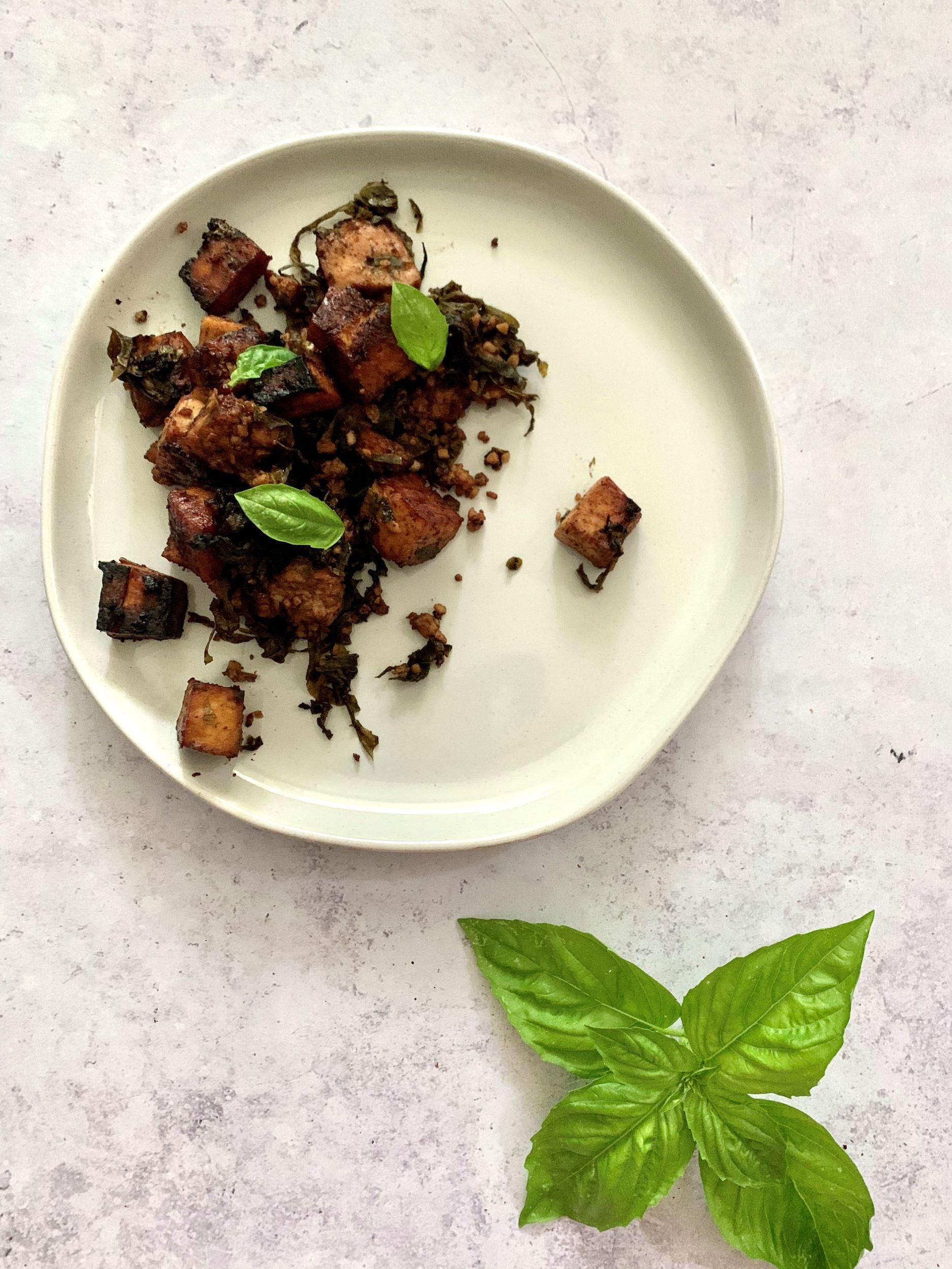 Basil Balsamic Roasted Tofu