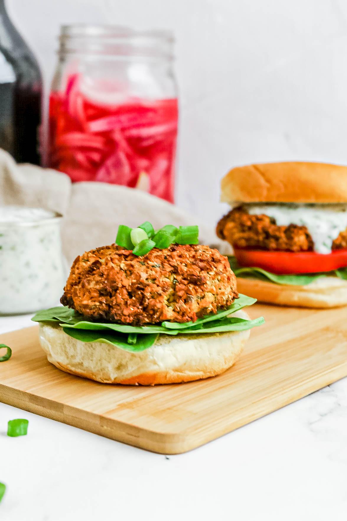 Air-Fryer Green Goddess Burgers