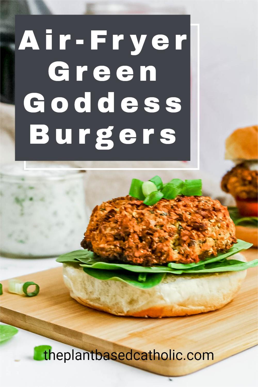 Air Fryer Green Goddess Burgers
