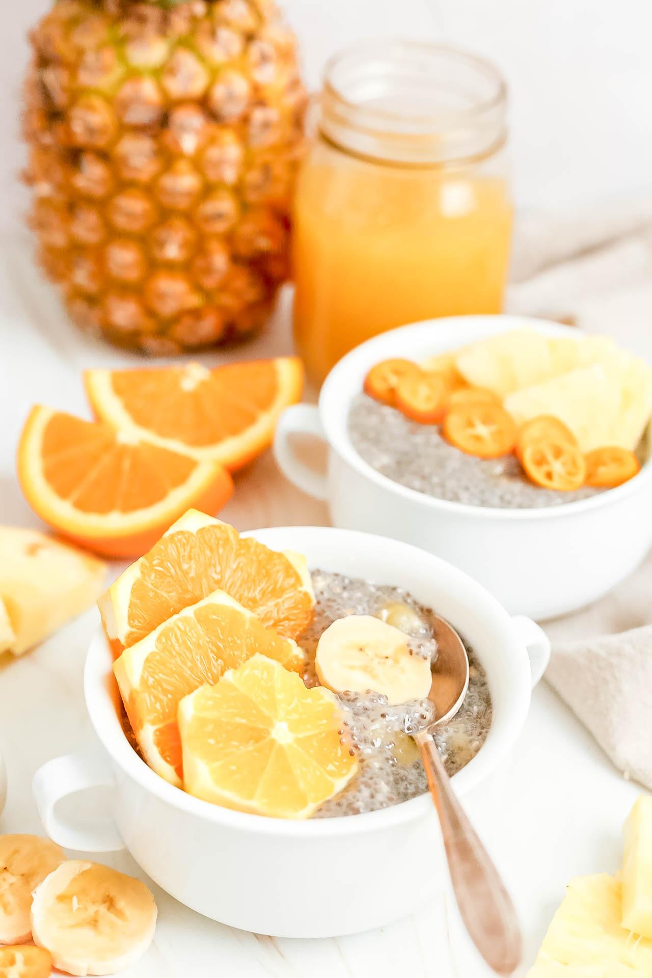 Banana Rum Chia Pudding