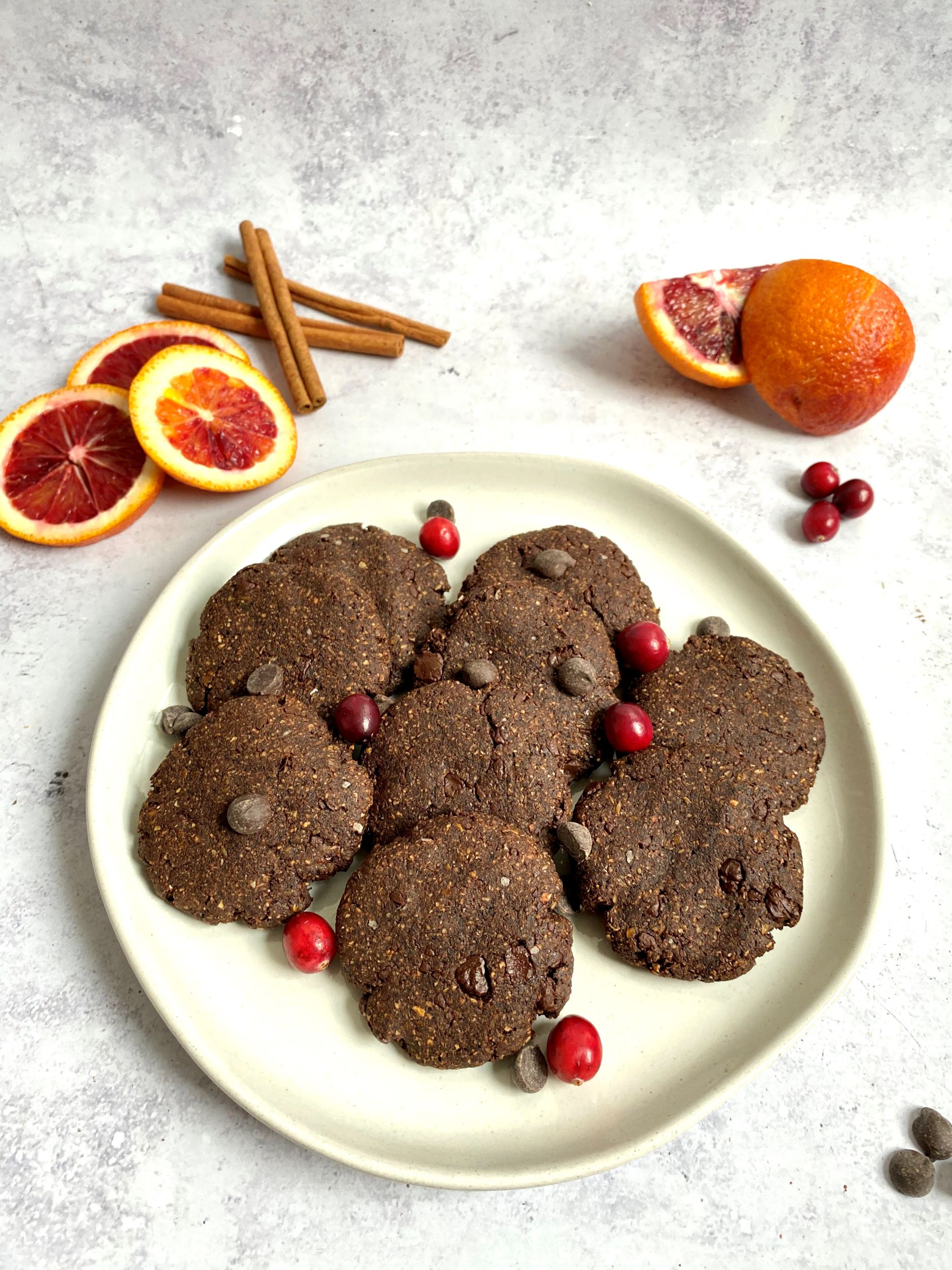 Vegan Chocolate Spice Cookies