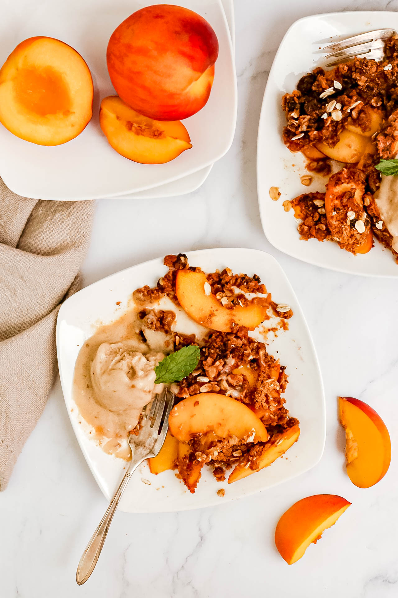 Plant-Based Air Fryer Peach Crisp