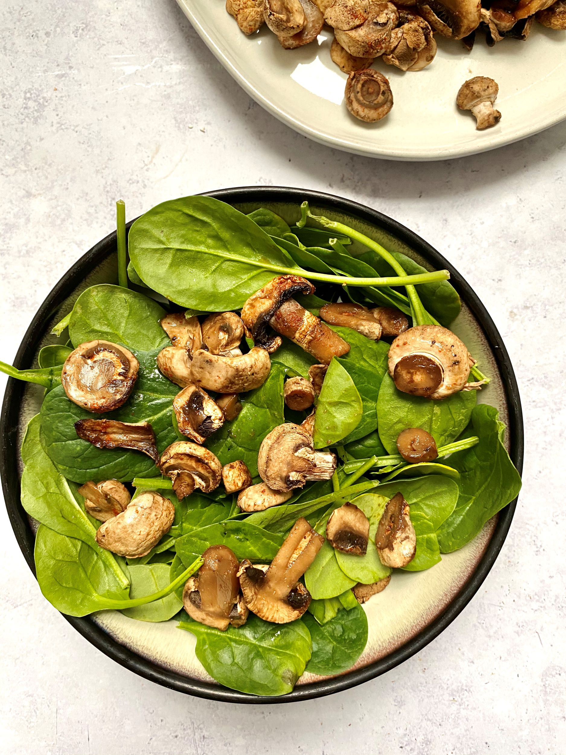 Oil-Free Roasted Mushrooms