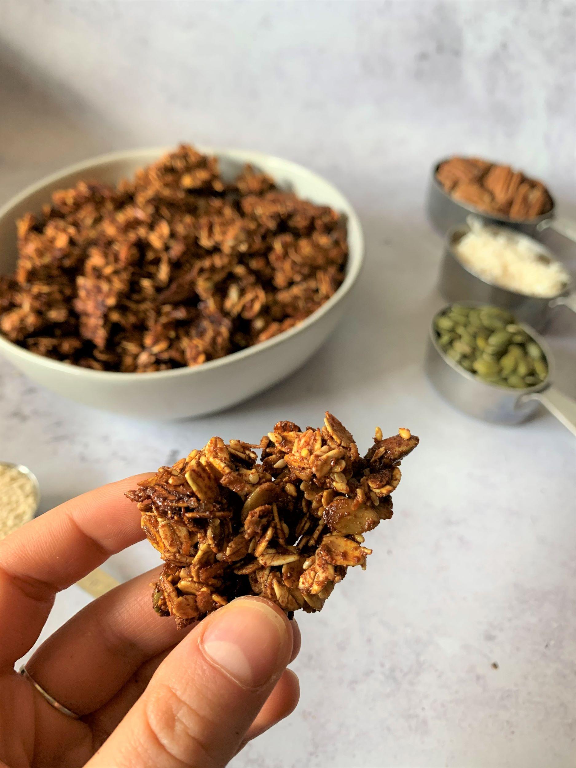Sweet Spicy Vegan Granola