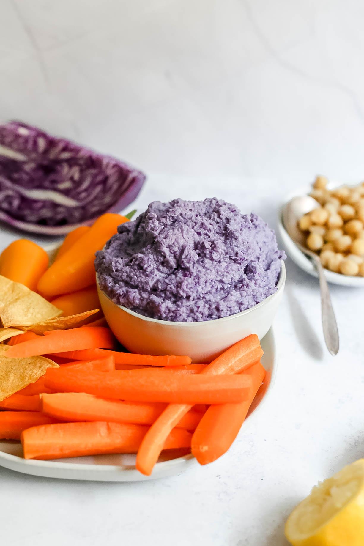 Purple Cabbage Hummus