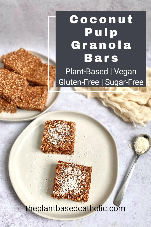 Coconut Pulp Granola Bars