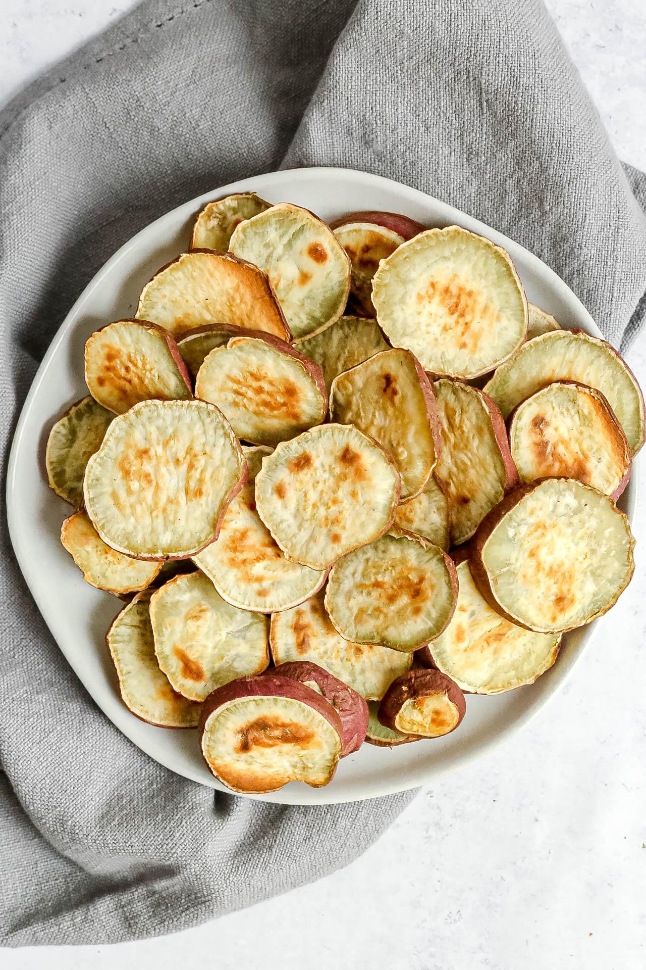 Roasted Japanese Sweet Potato Rounds
