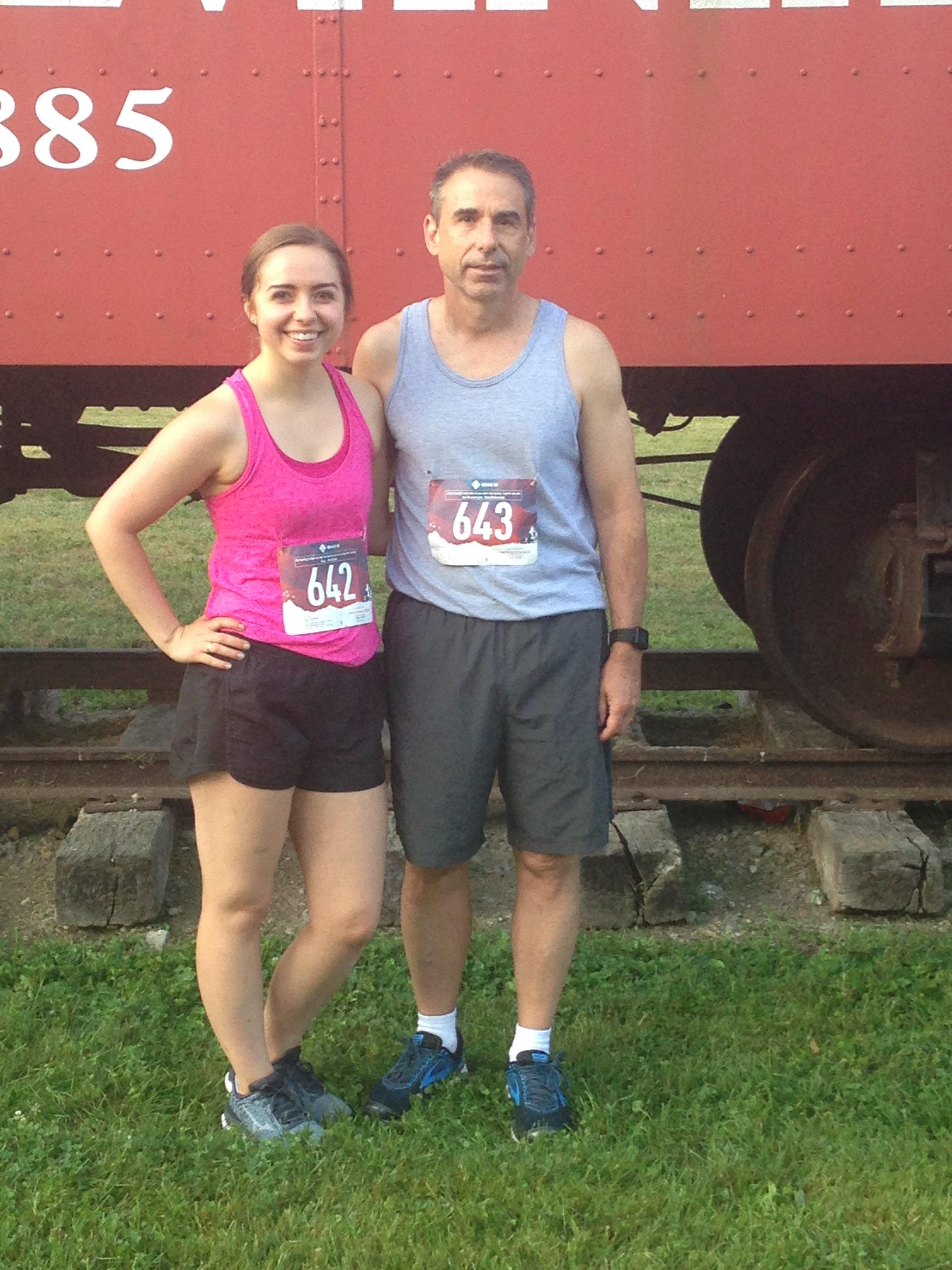 Elizabeth and dad at 10k