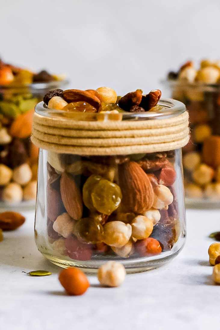 Trail mix in a jar