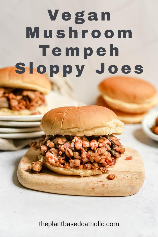 Vegan Mushroom-Tempeh Sloppy Joes
