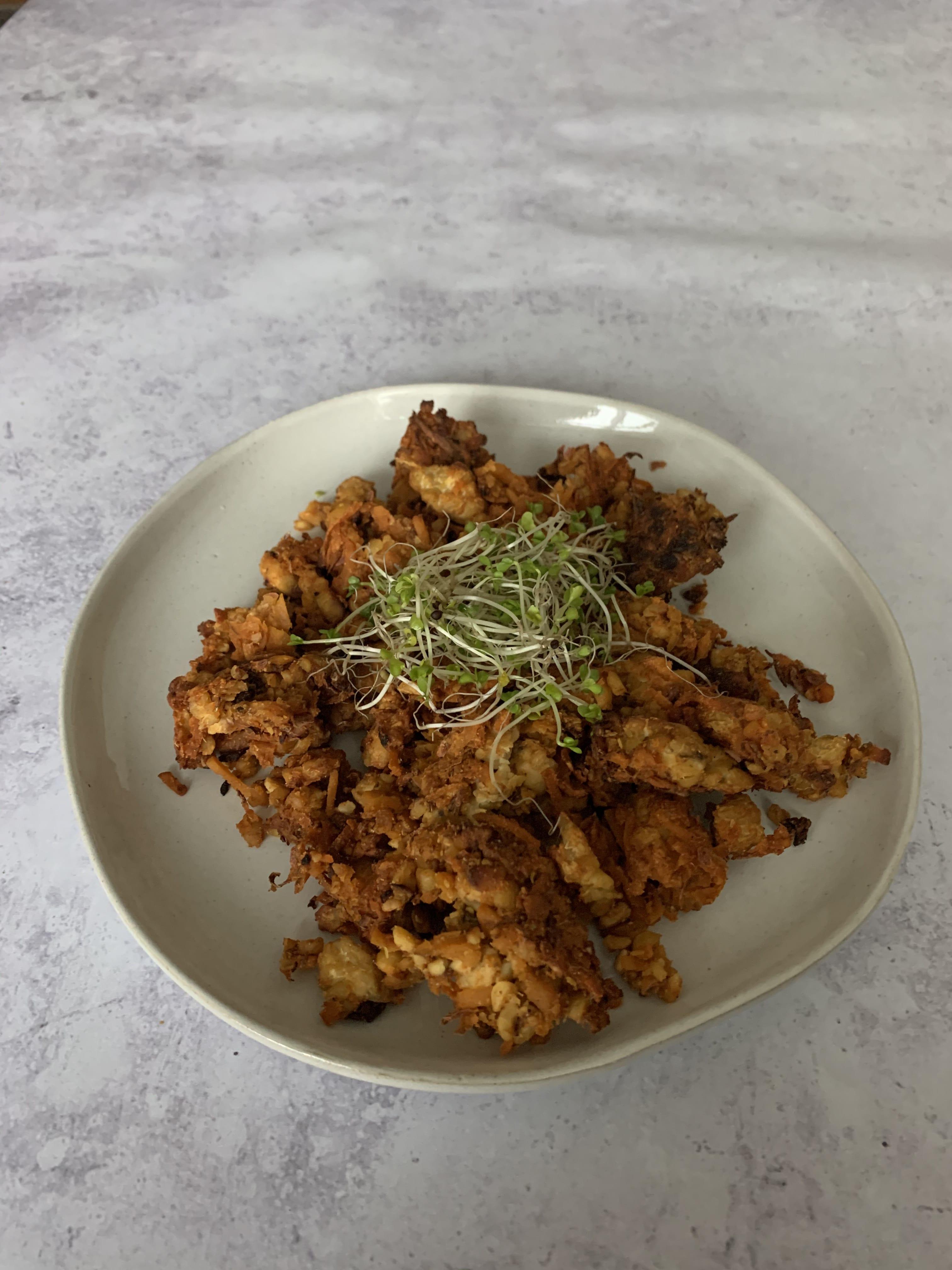 Sweet Potato Tempeh Hash