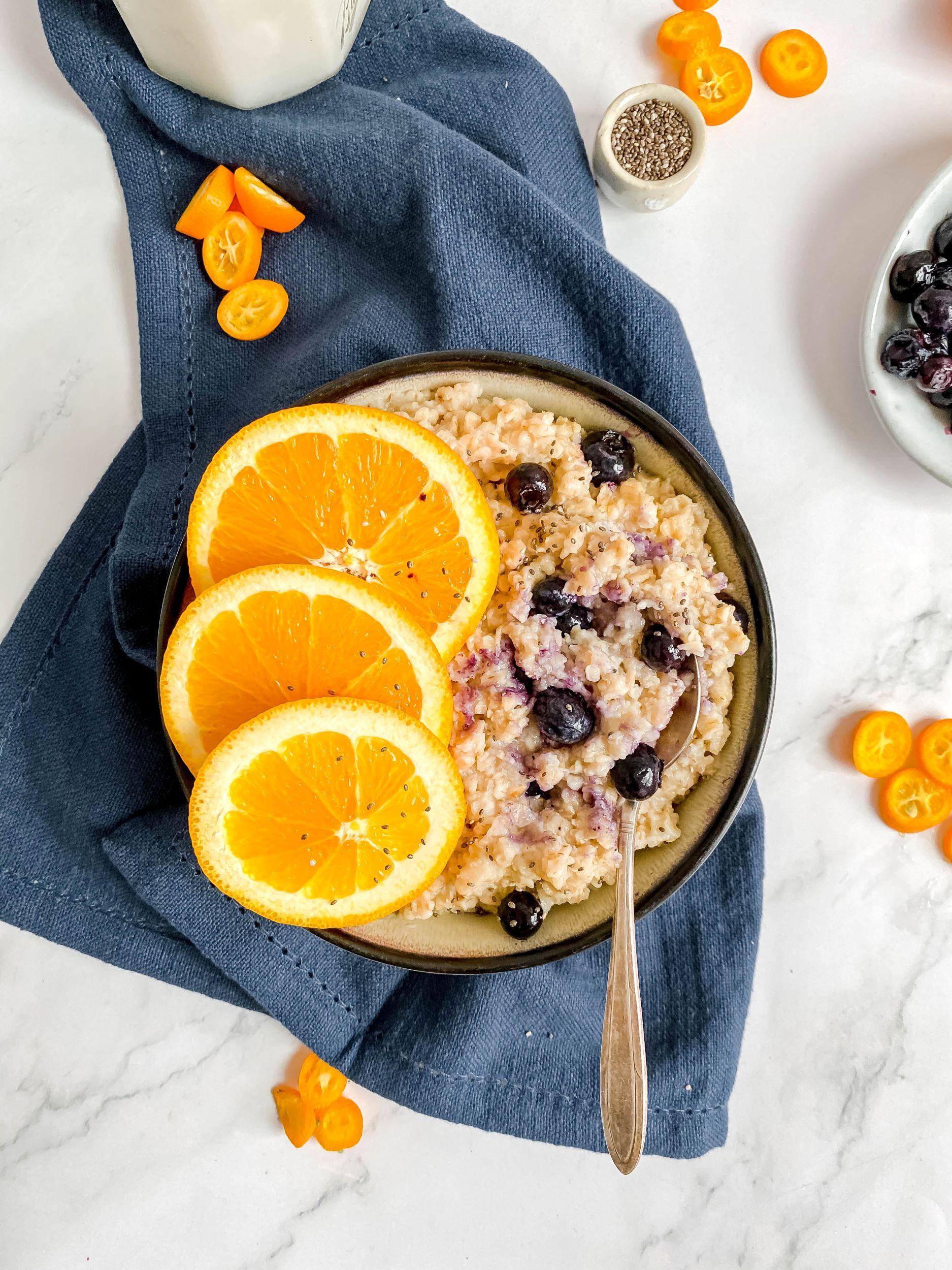 Blueberry Orange Oatmeal Bowl