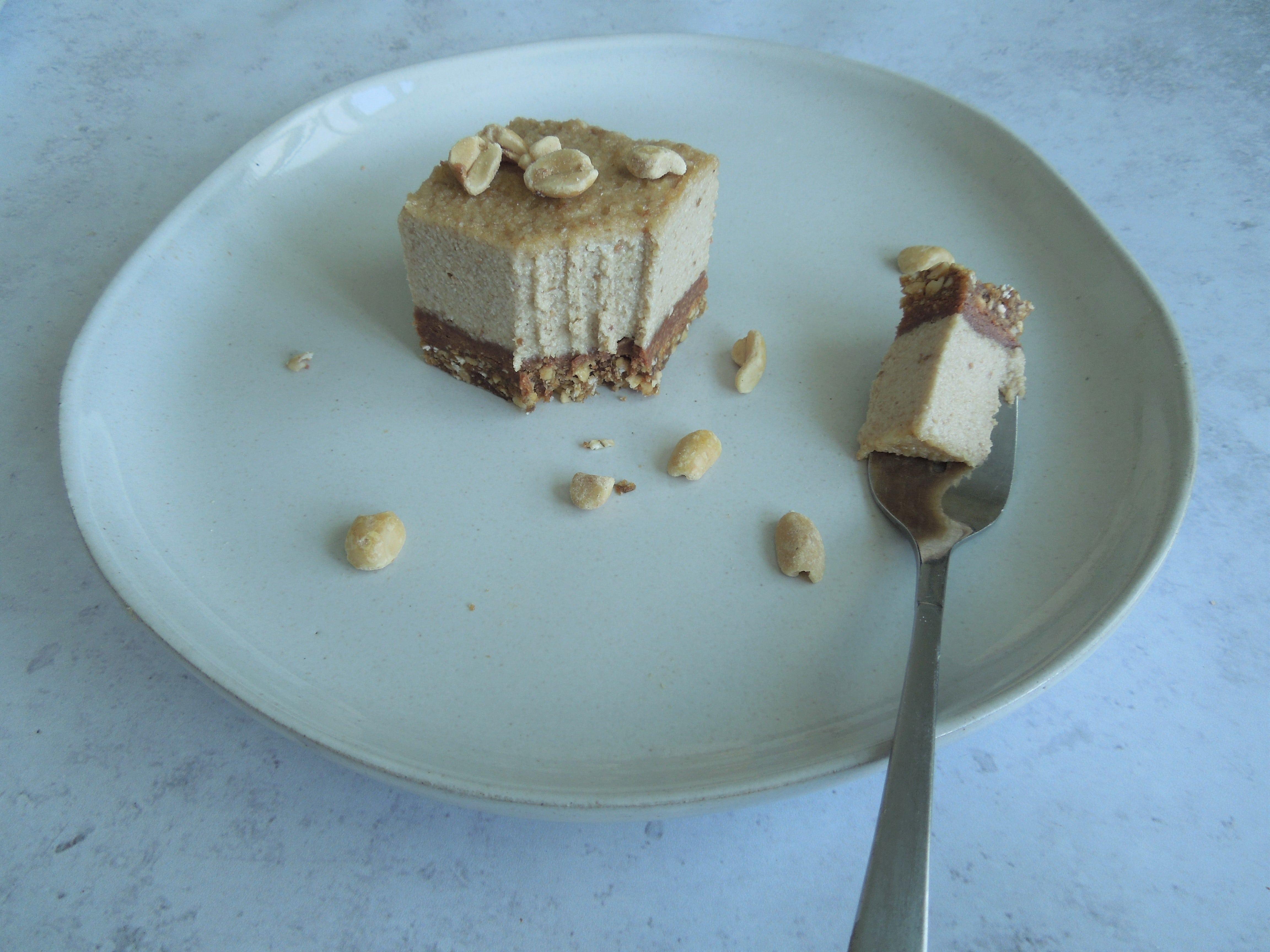 Vegan Layered Peanut Butter Cheesecake