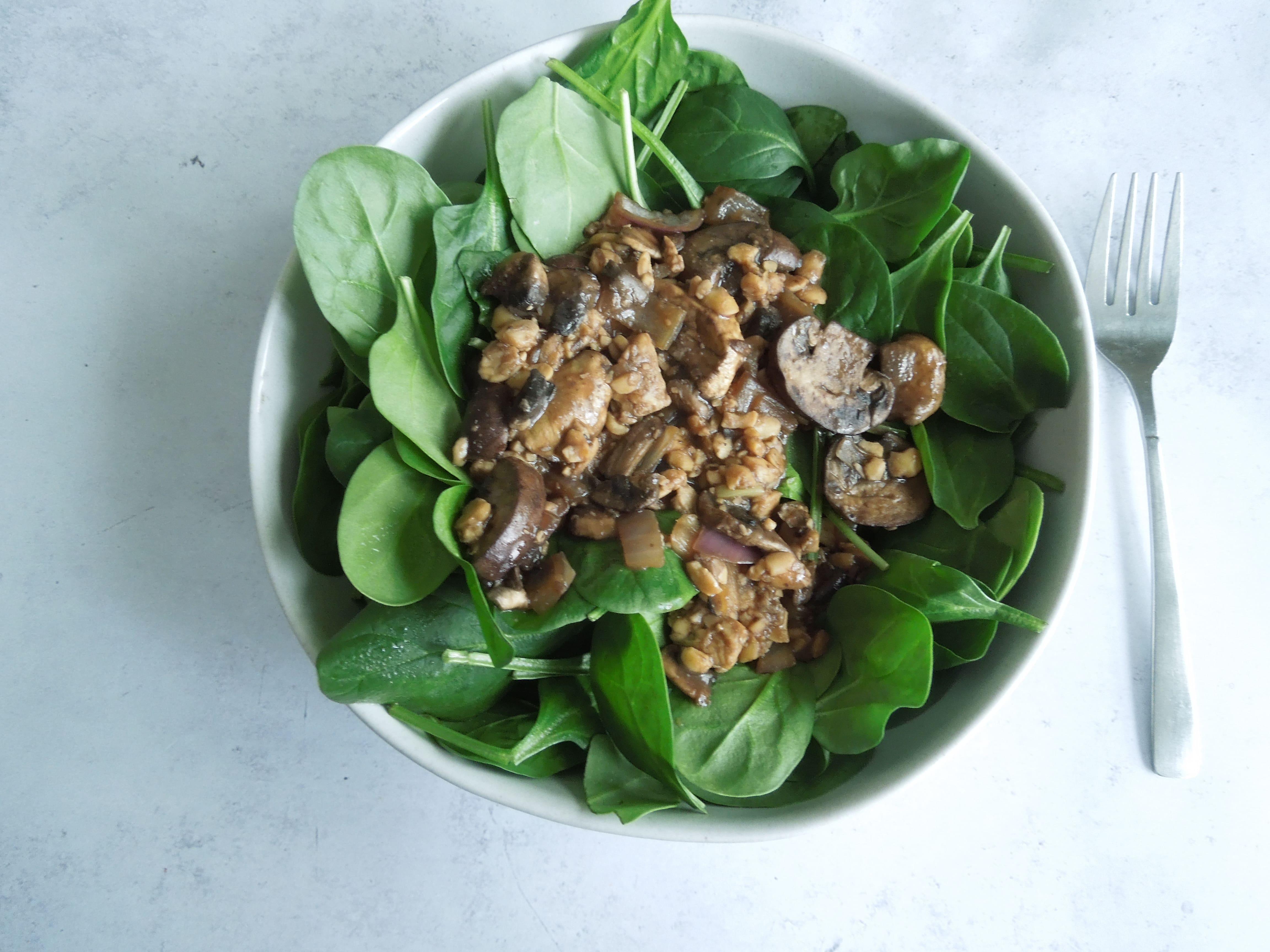 Teriyaki Mushroom Tempeh Salad