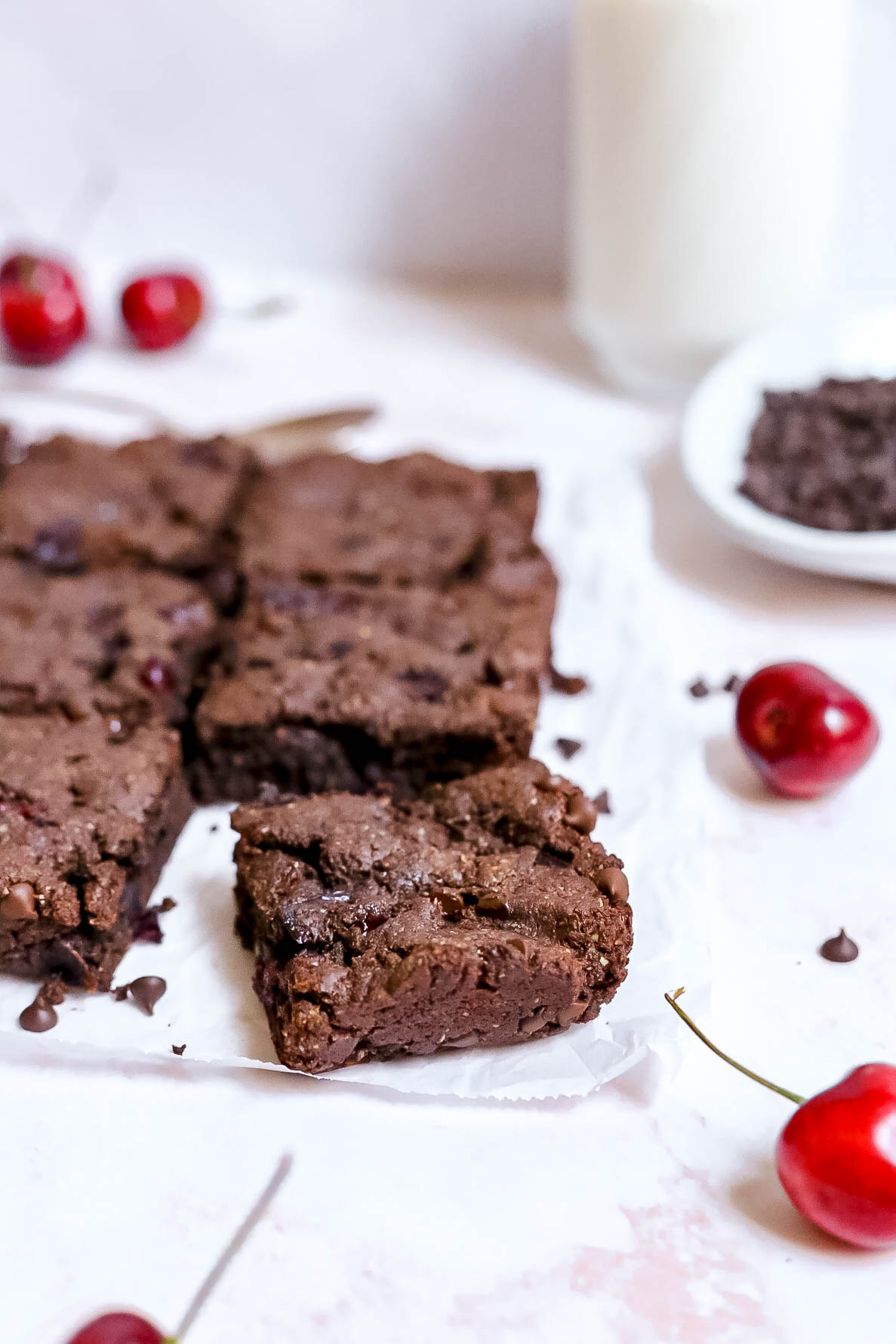 Plant-Based Black Forest Brownies