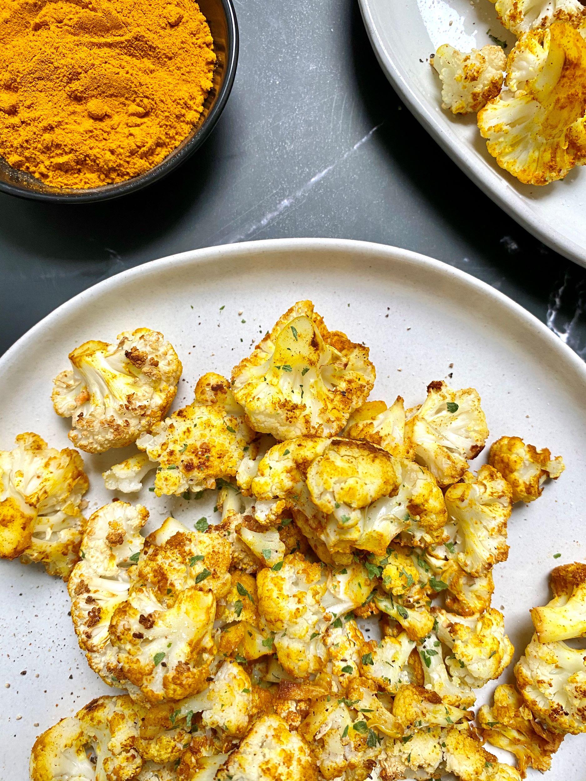 Turmeric Roasted Cauliflower