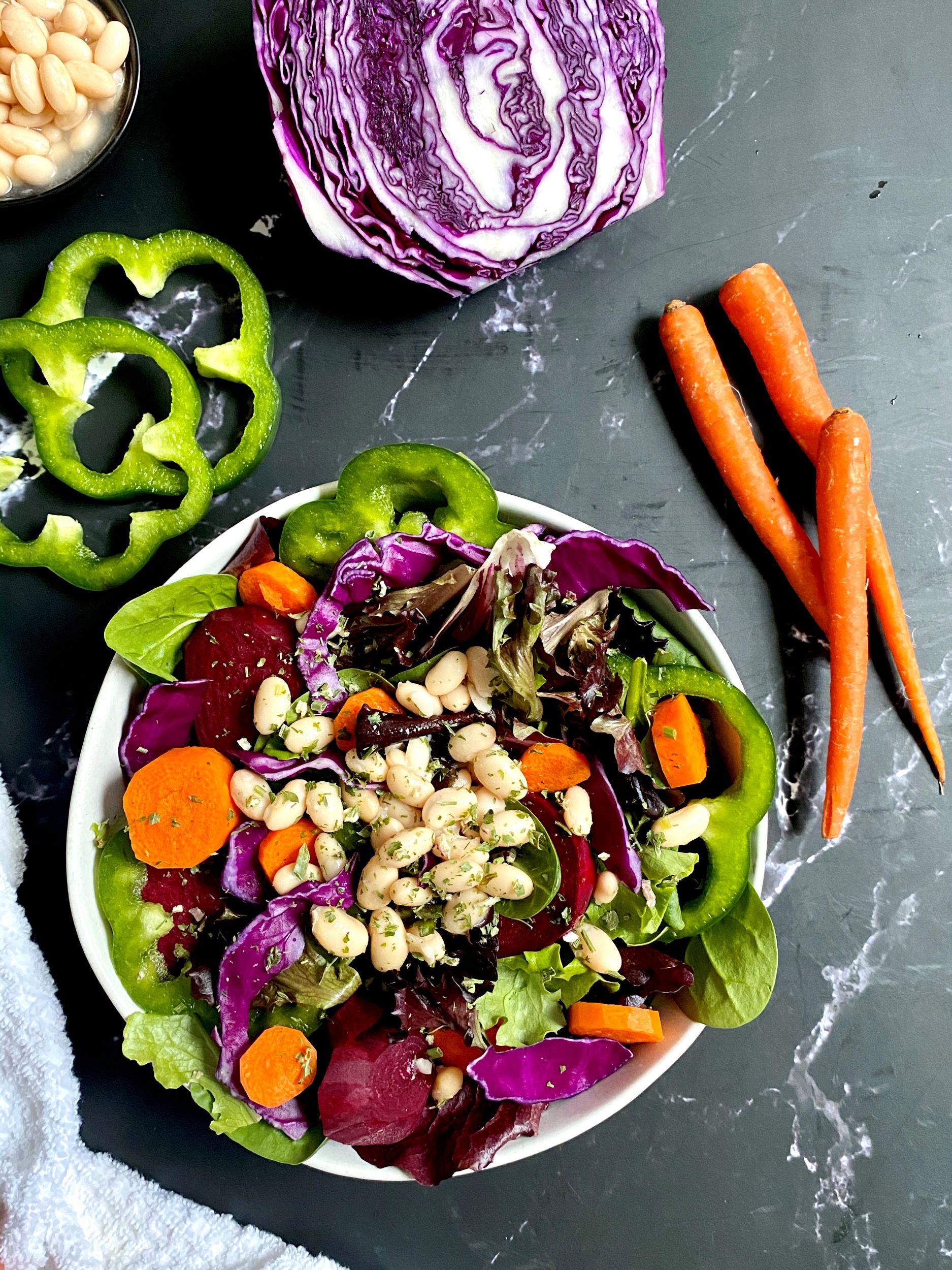Simple Rainbow Salad