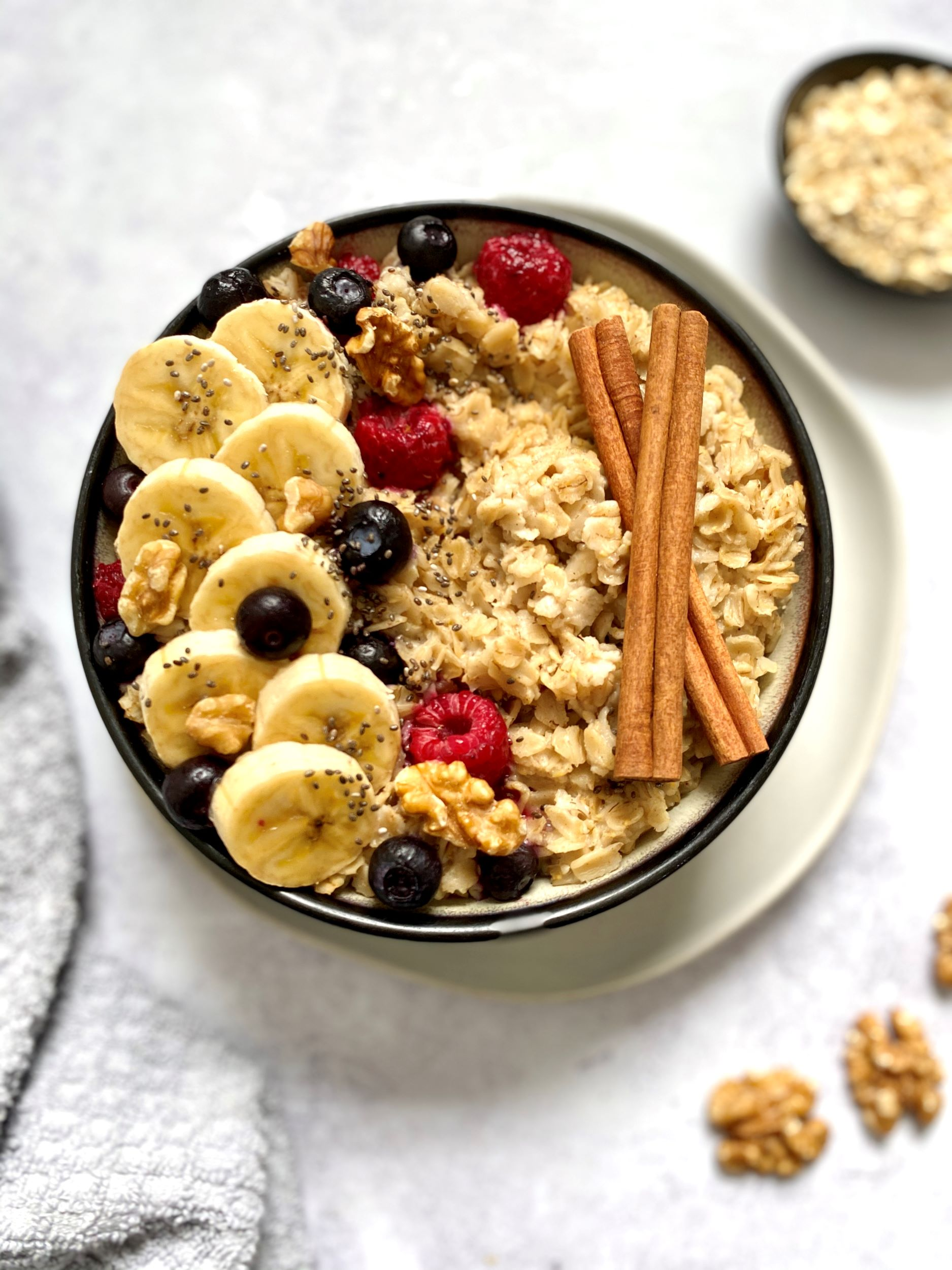 Plant-Based Berry Oatmeal