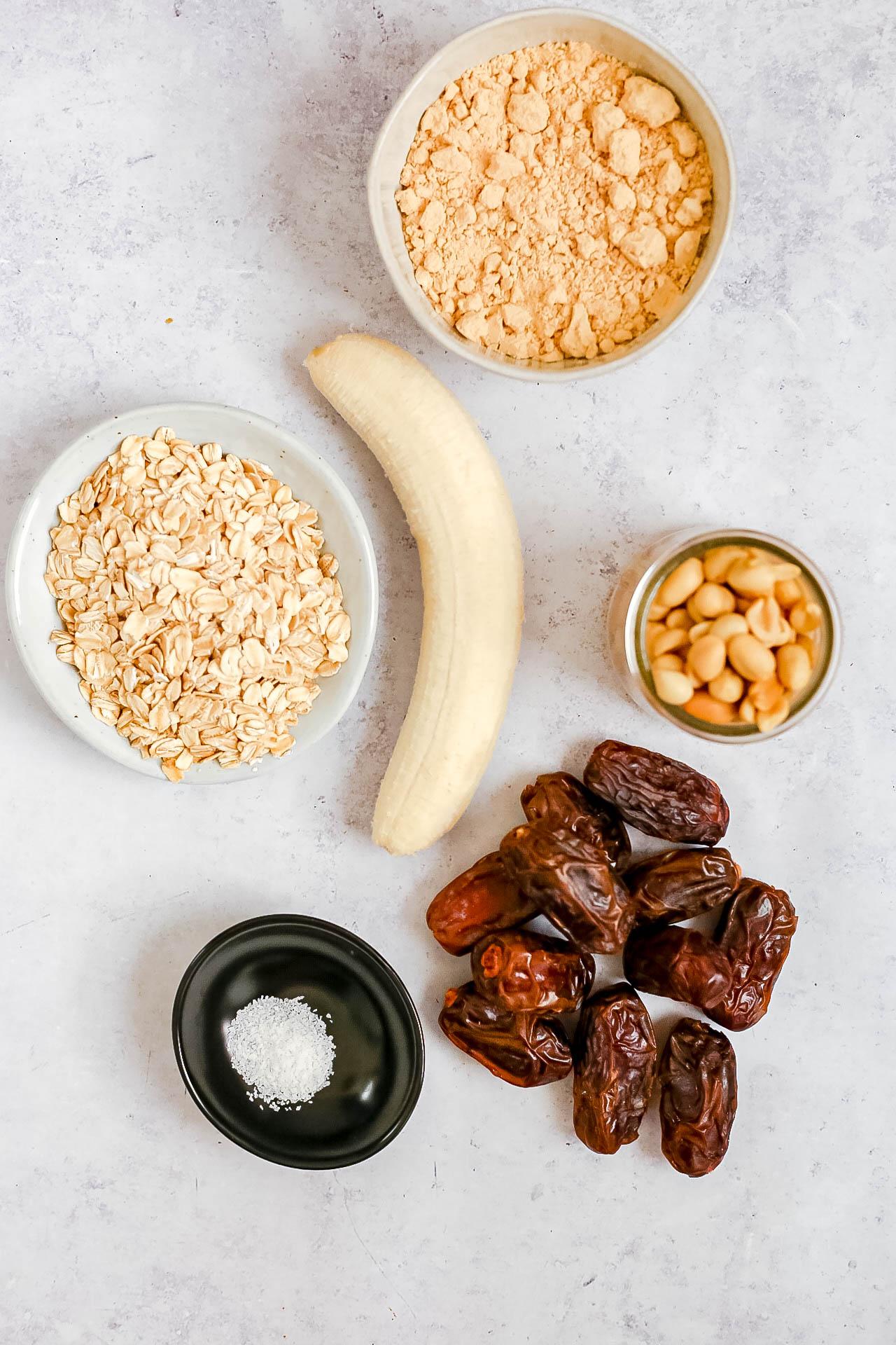 Peanut Butter Banana Breakfast Bars Ingredients
