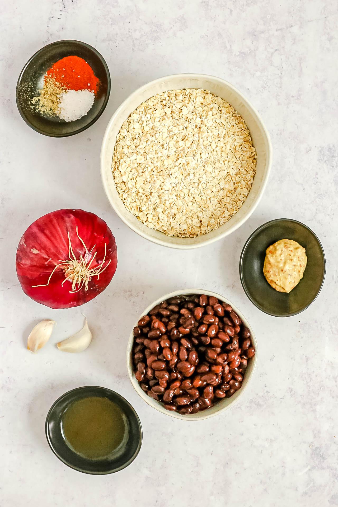 Spicy Vegan Black Bean Burgers Ingredients